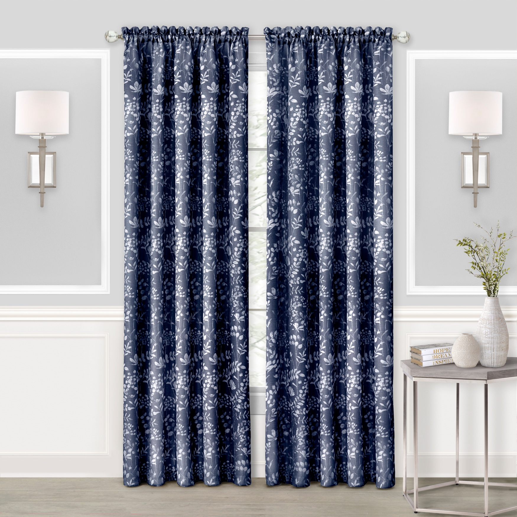 Charlotte Rod Pocket Window Curtain Panel,