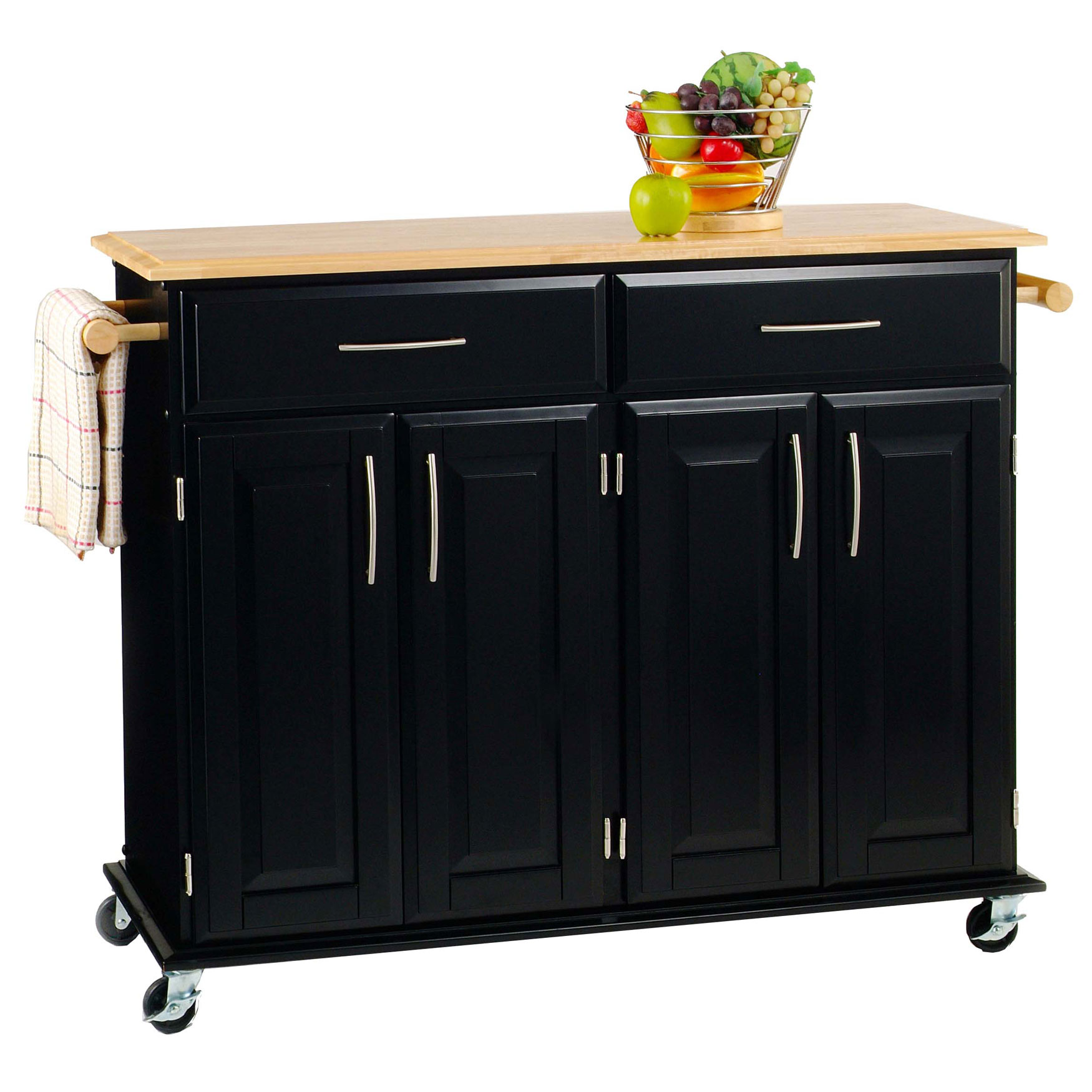 Brylane Home Kitchen: Dolly Madison Kitchen Island Cart