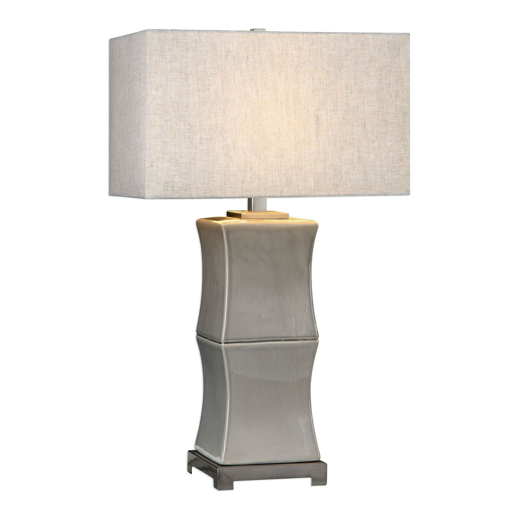 Arris Aged Gray Table Lamp , GRAY