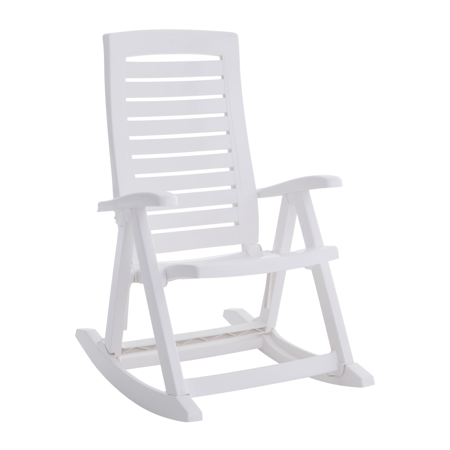 Foldable Rocking Chair, WHITE