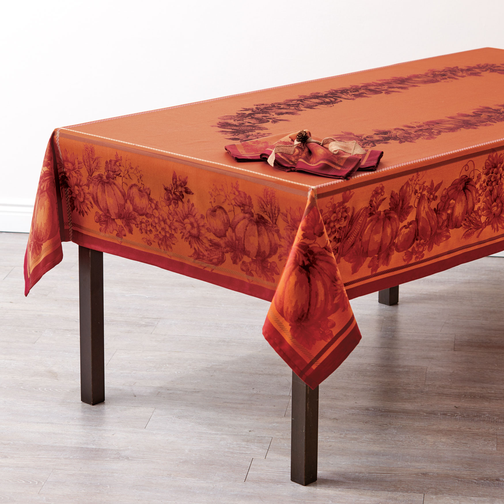 "Harvest Border 60""W x 120""L Tablecloth, MULTI"
