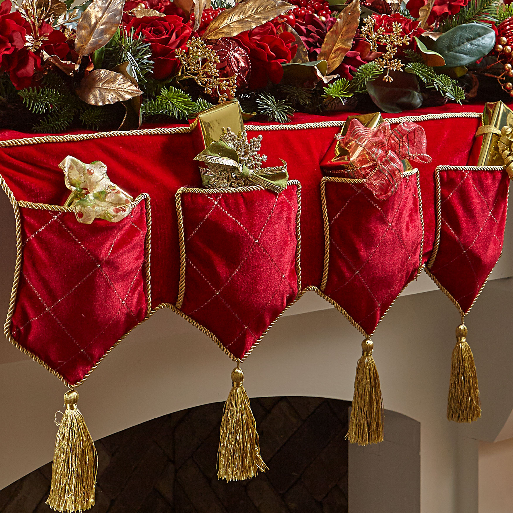 "72"" Mantel Scarf, RED"
