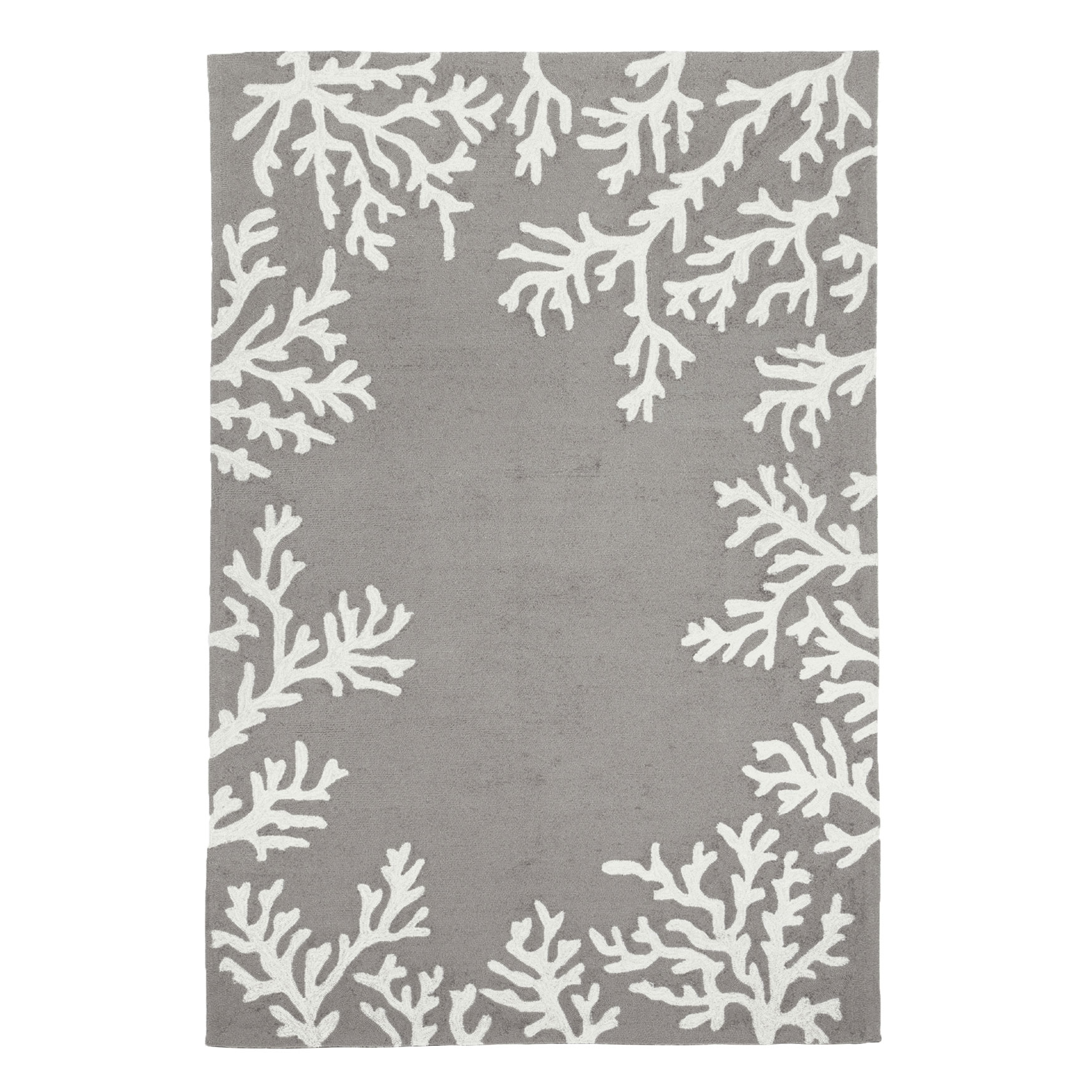 Coral Border Indoor/Outdoor Rug,