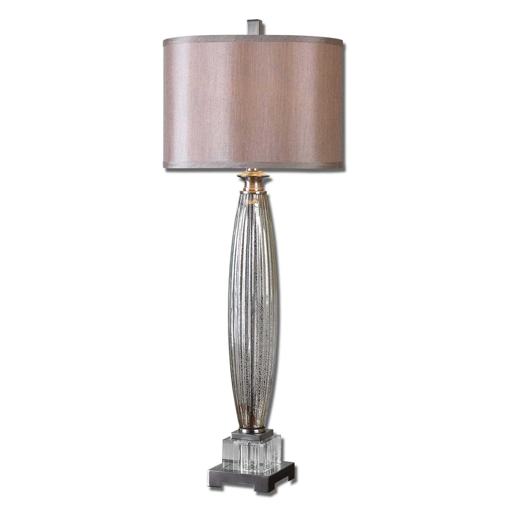 Loredo Mercury Glass Table Lamp, AMBER
