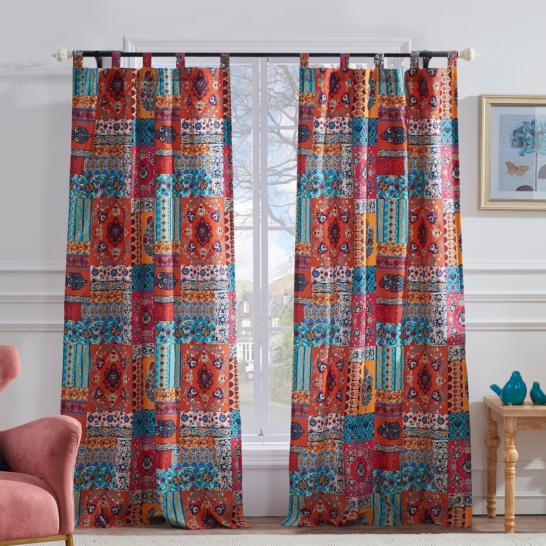 Indie Spice Curtain Panel Pair by Barefoot Bungalow, SPICE