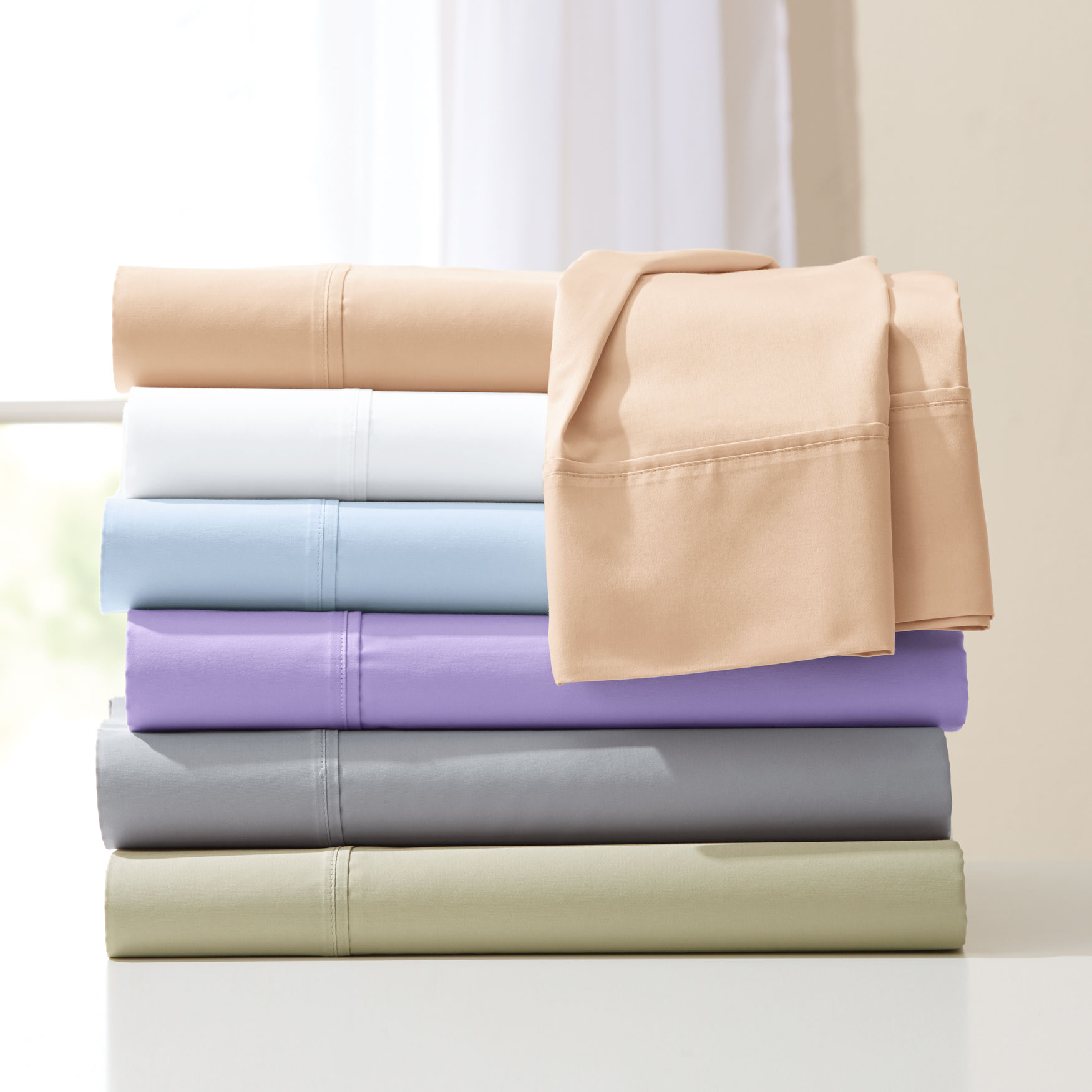 Bed Tite™ 500-TC Pure Cotton Sheet Set,