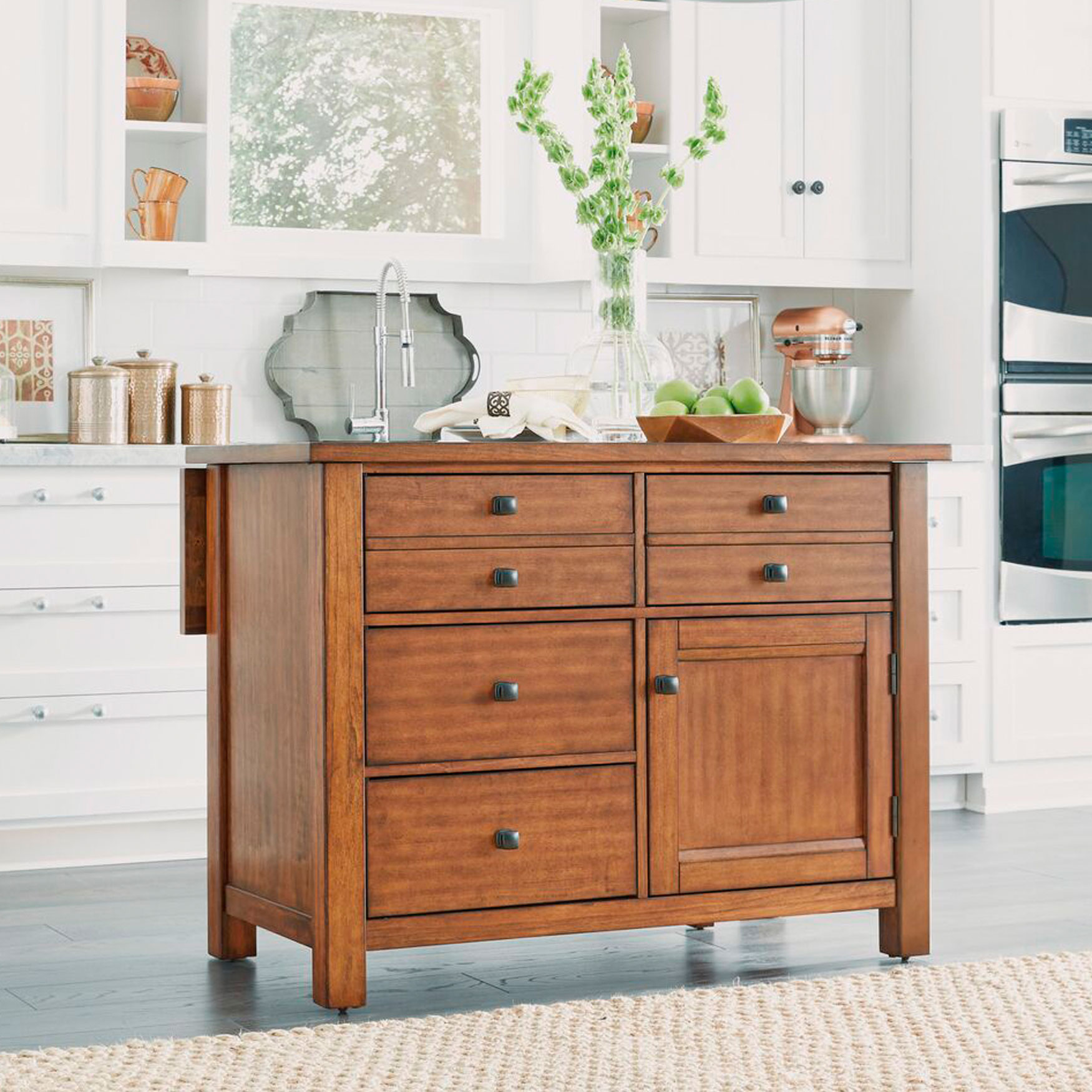 Brylane Home Kitchen: Plus Size Kitchen Carts & Islands