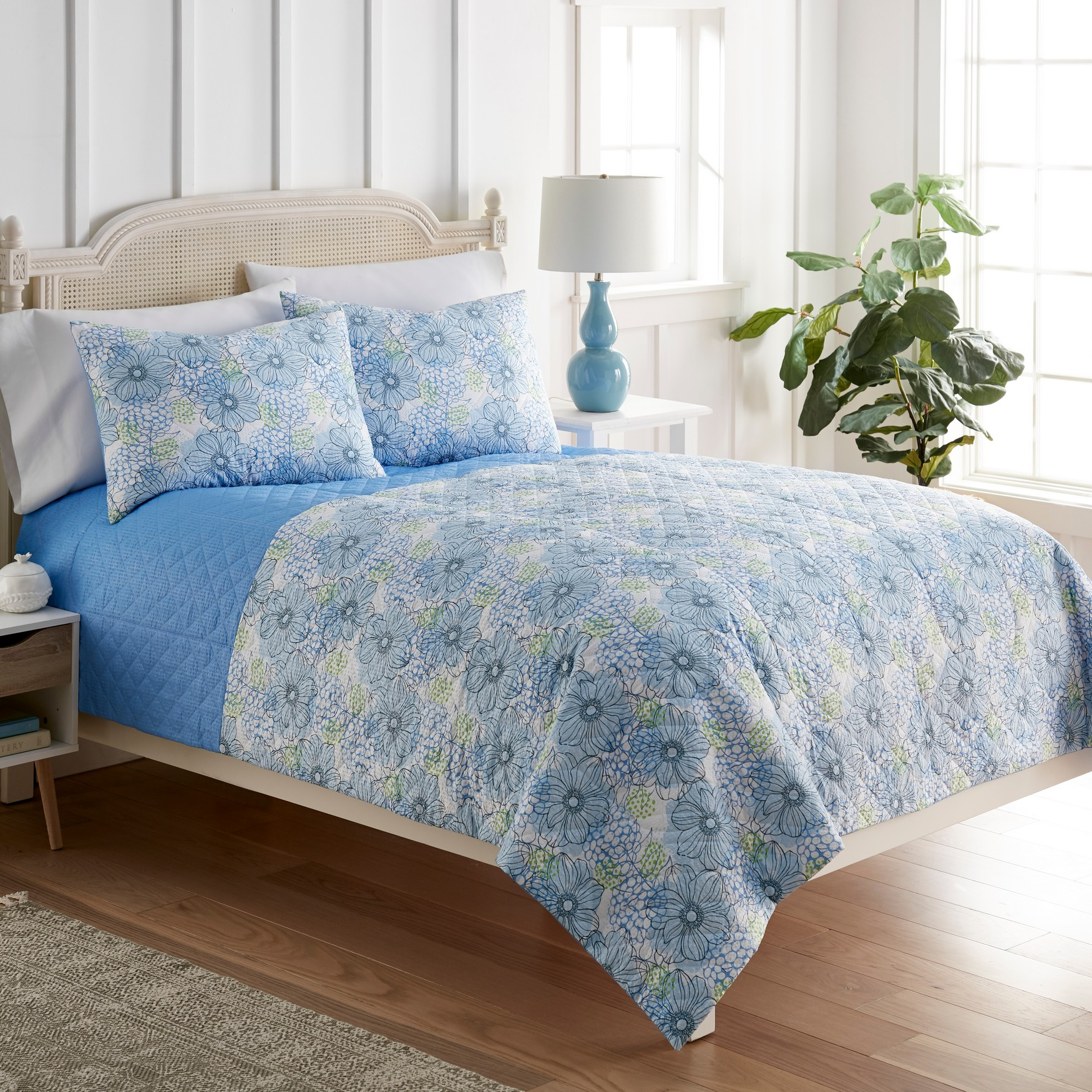 Seersucker 6-in-1 Quilt Set,