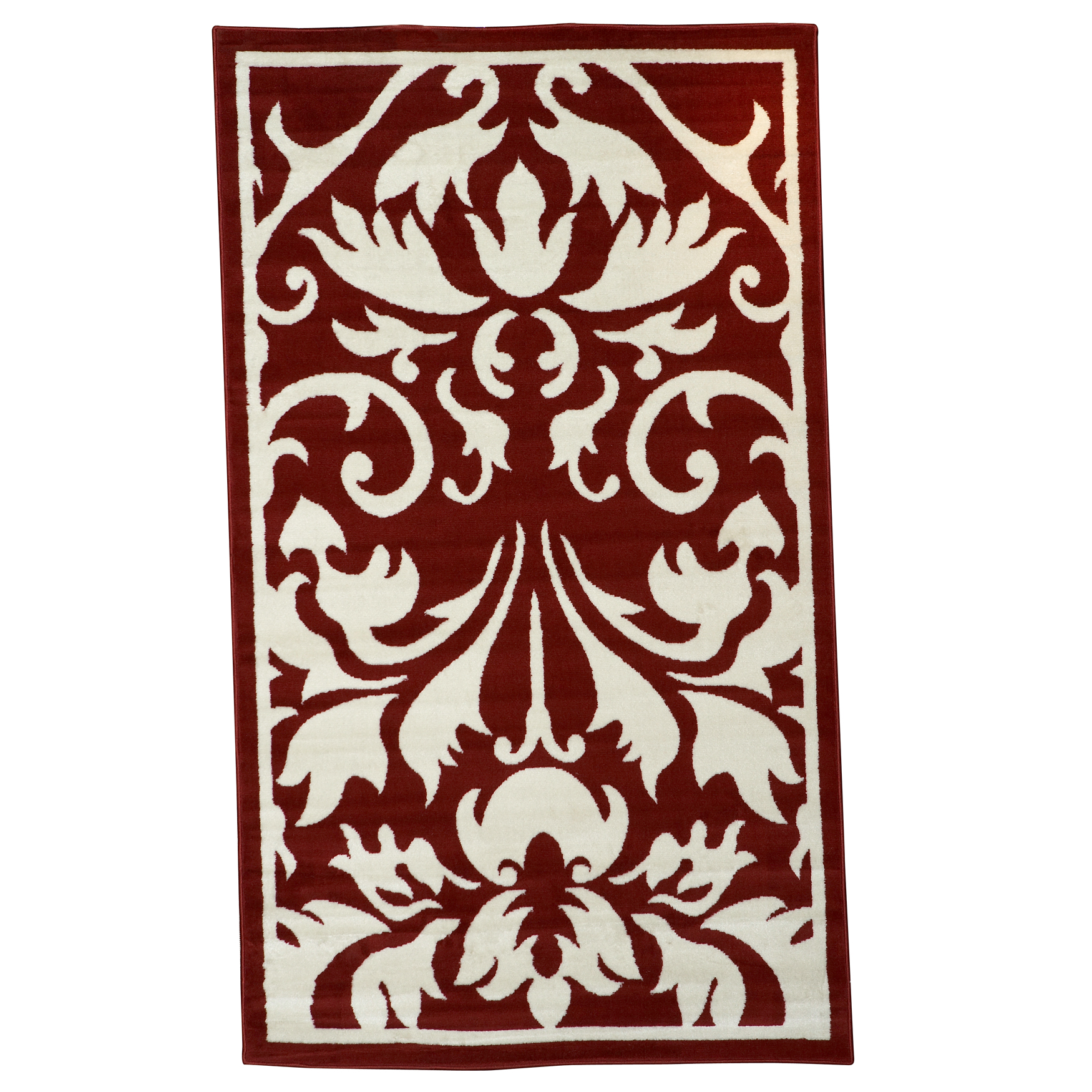 Capri Red 5' x 7' Area Rug, RED