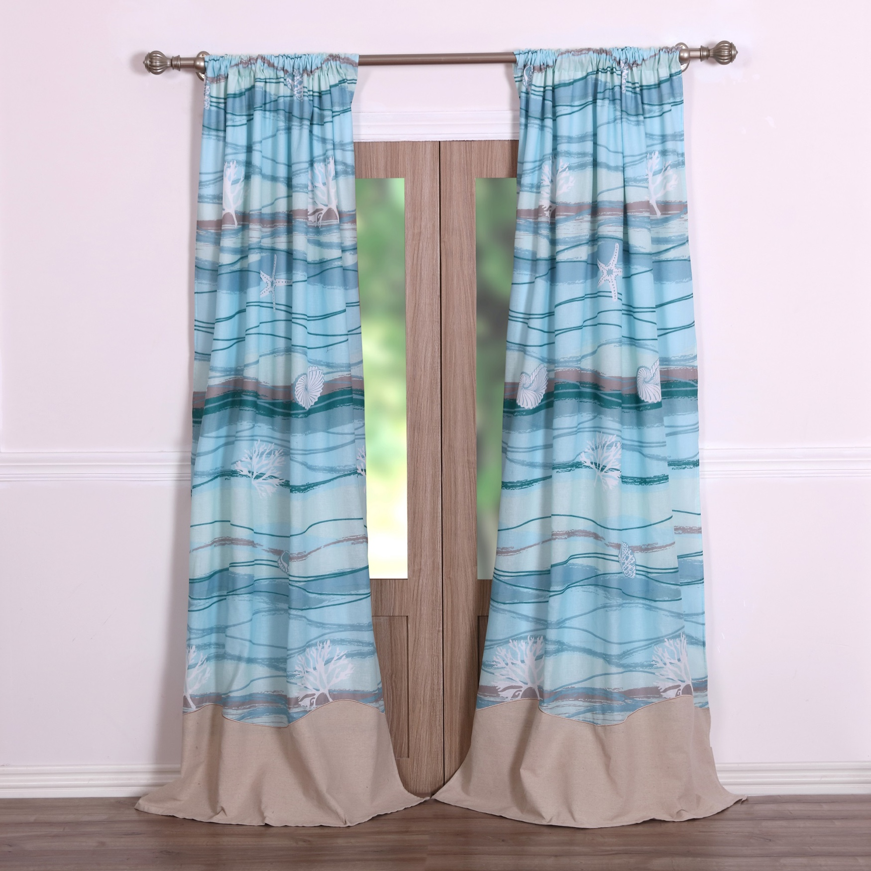 Maui Curtain Panel Pair by Greenland Home Fashions, MULTI