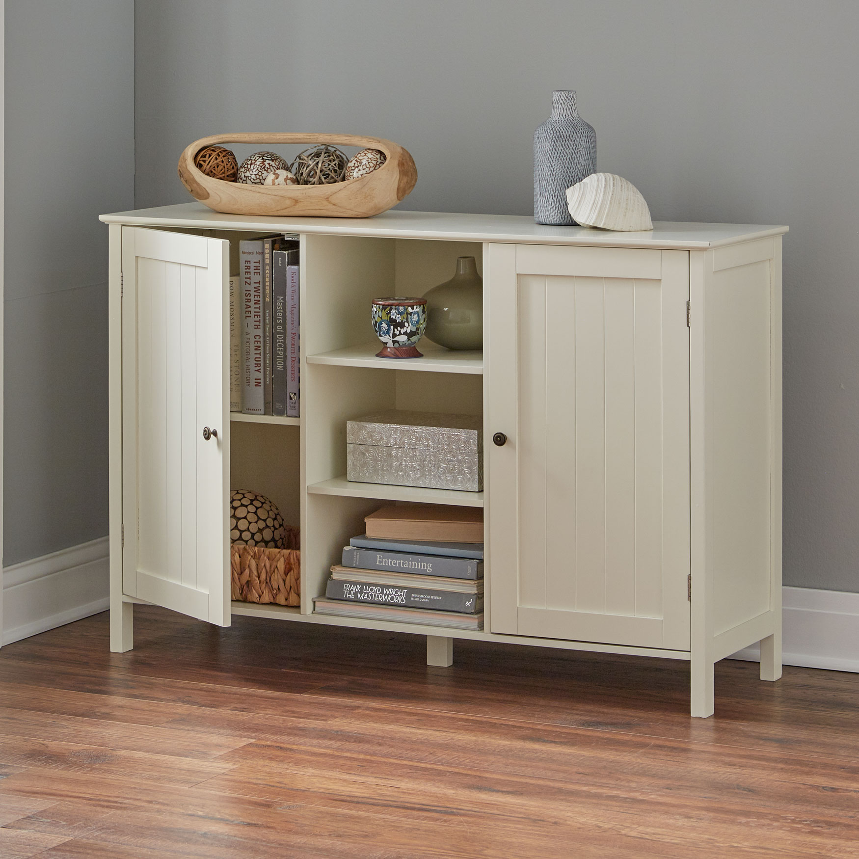 Adelaide 2-Door Cabinet with Shelves,