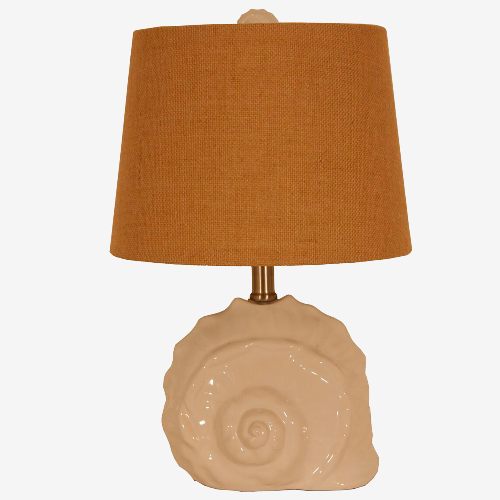 Conch Shell Lamp, WHITE