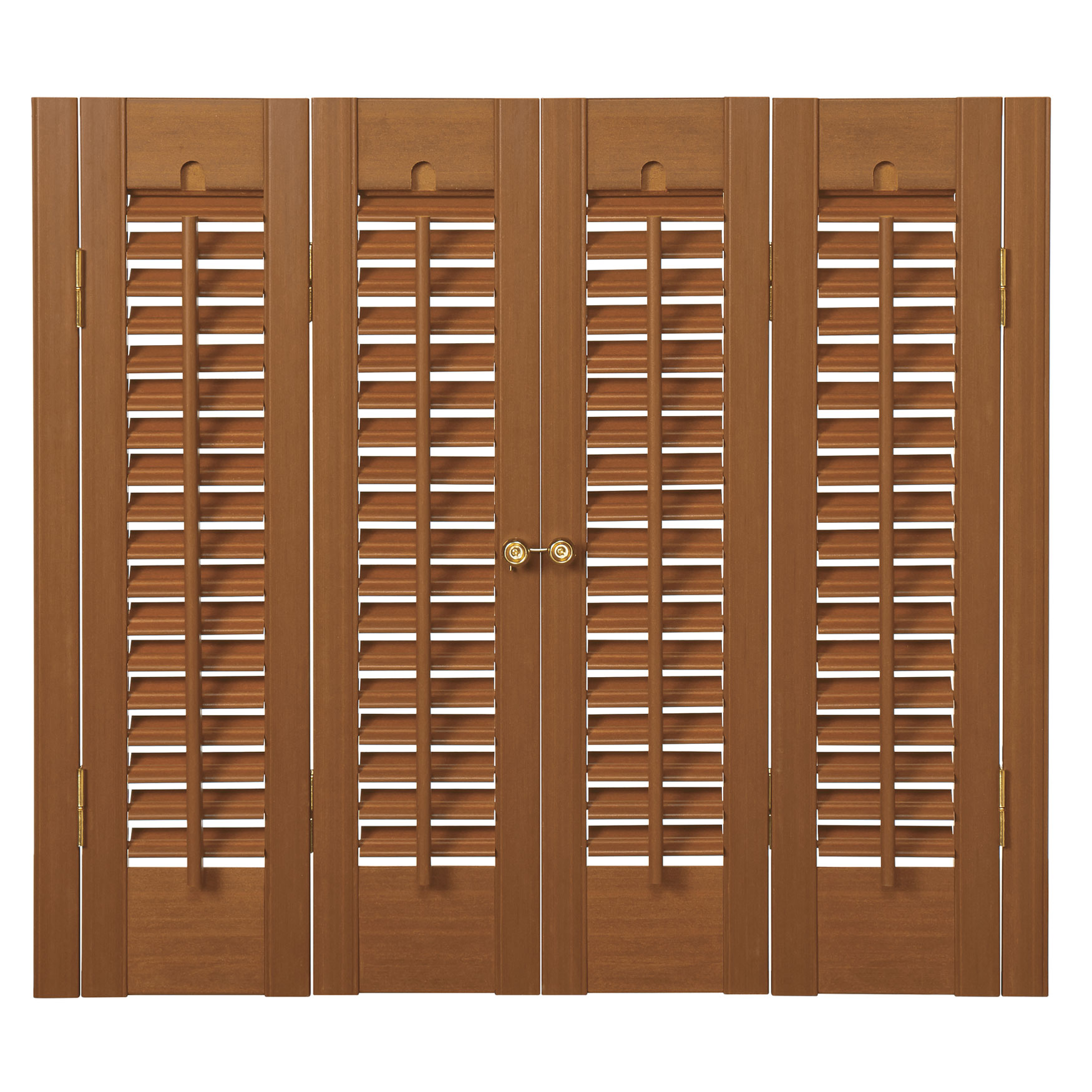 "1¼"" Louver Traditional Faux Wood Shutter,"