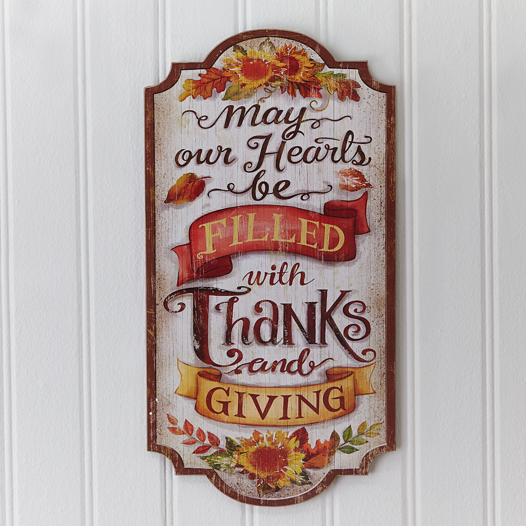 Thanks & Giving Wall Plaque, MULTI