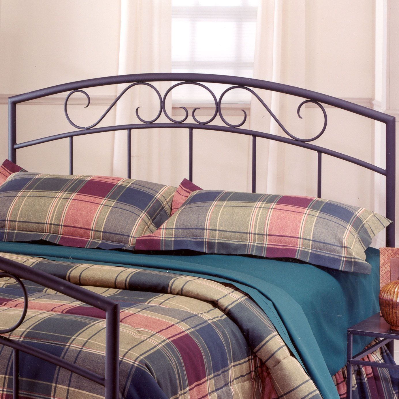 "Full/Queen Headboard with Headboard Frame, 71½""Lx62¾""Wx46""H, BLACK"