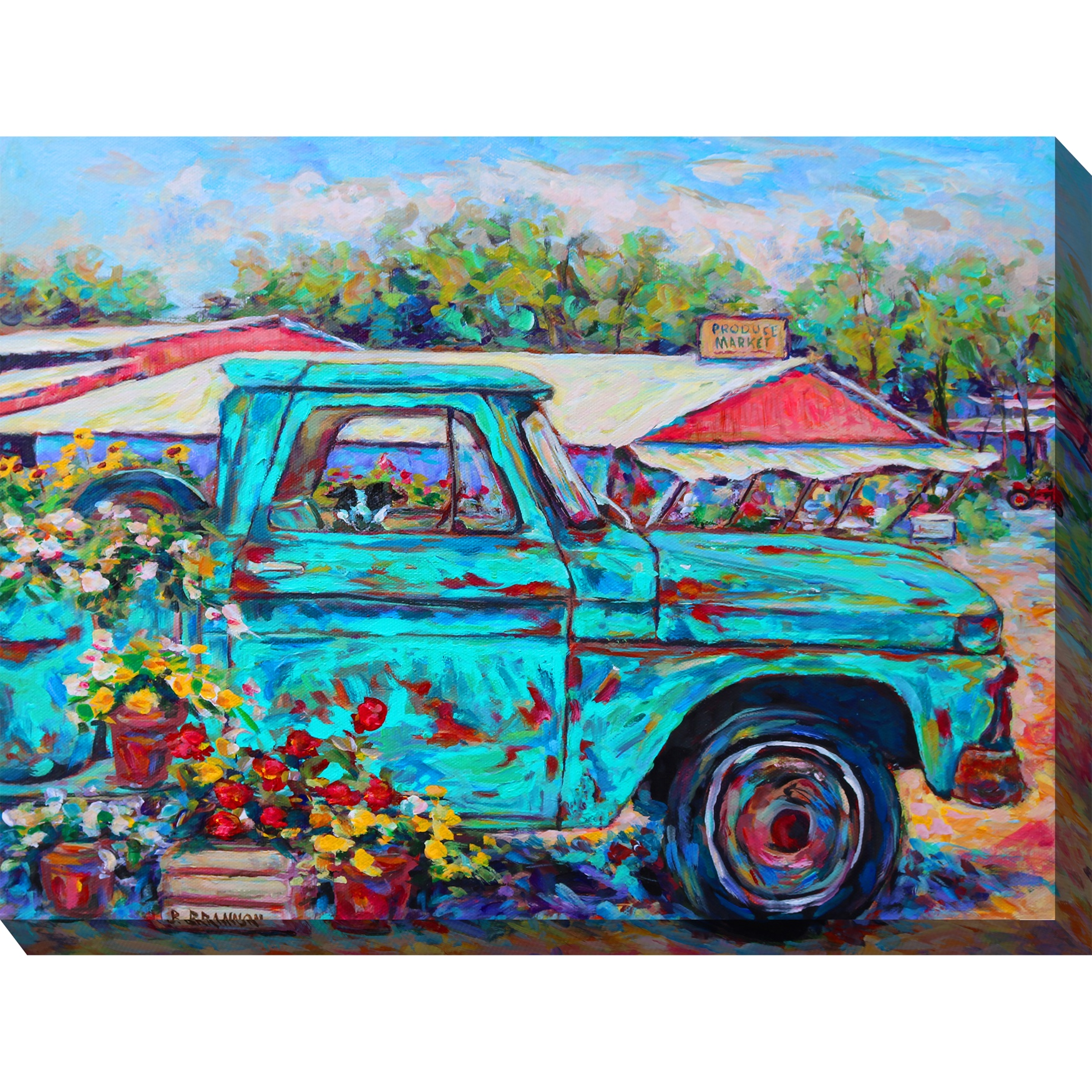 Market Day Outdoor Wall Art, MULTI