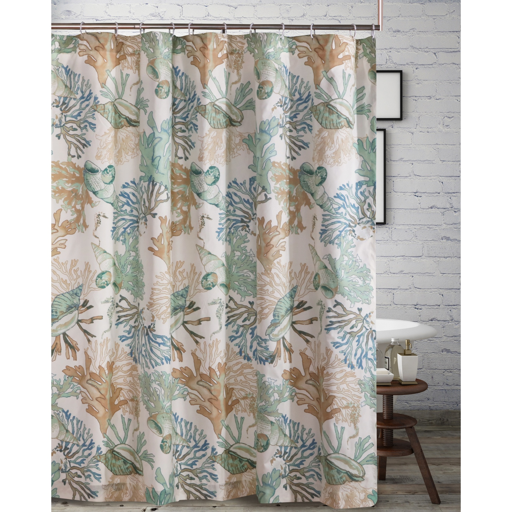 Atlantis Jade Shower Curtain by Barefoot Bungalow, JADE