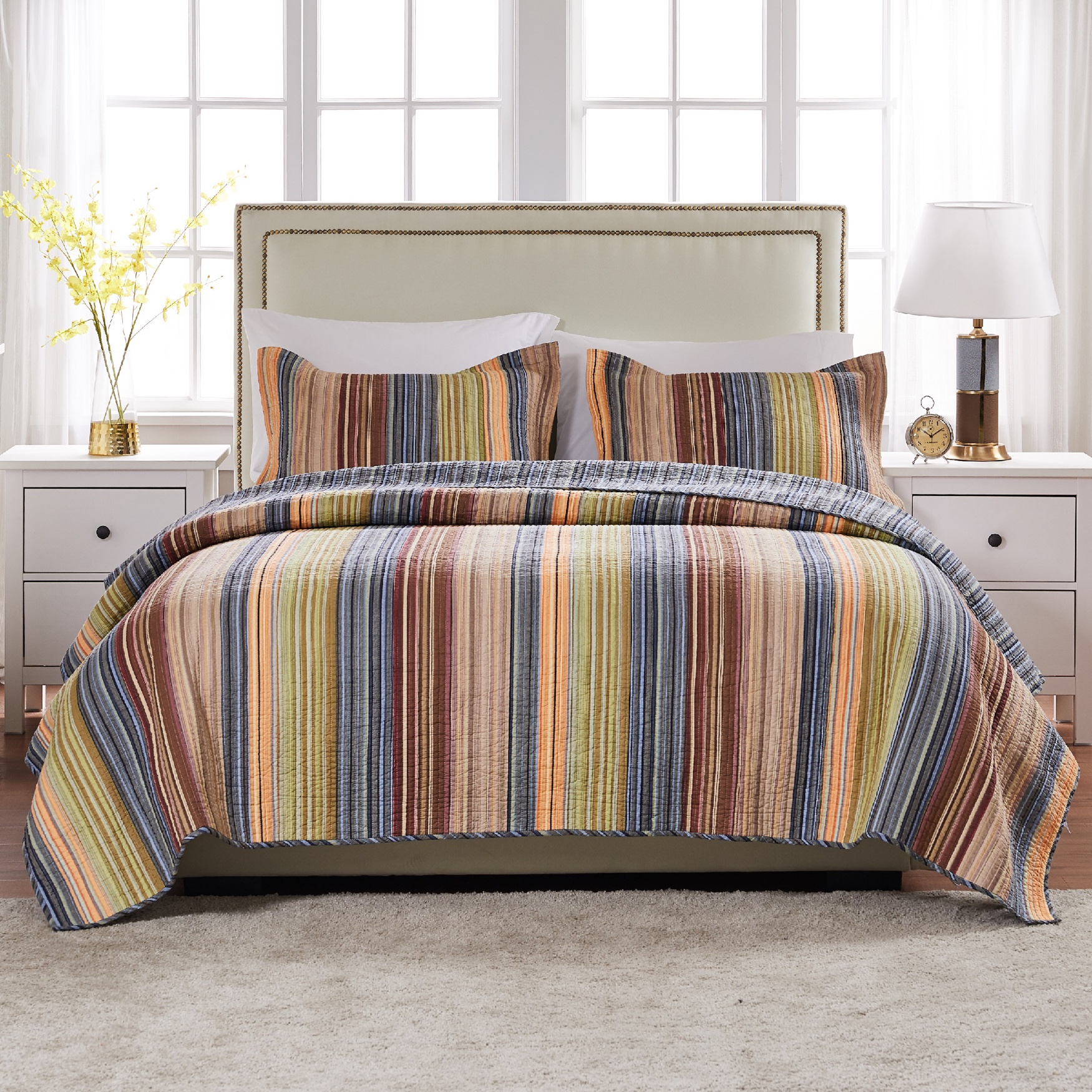 Katy Quilt Set by Greenland Home Fashions,