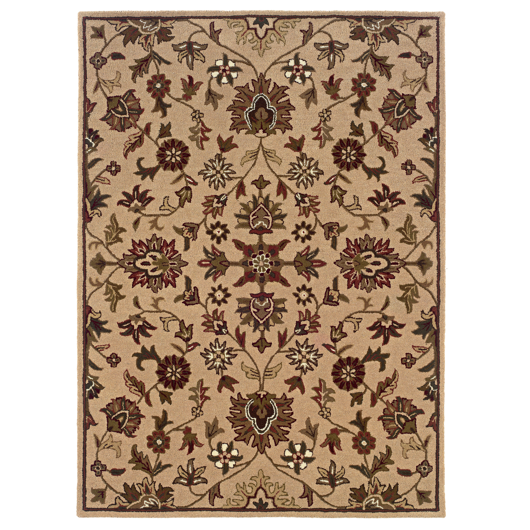Trio Traditional Gold 5'X7' Area Rug, GOLD