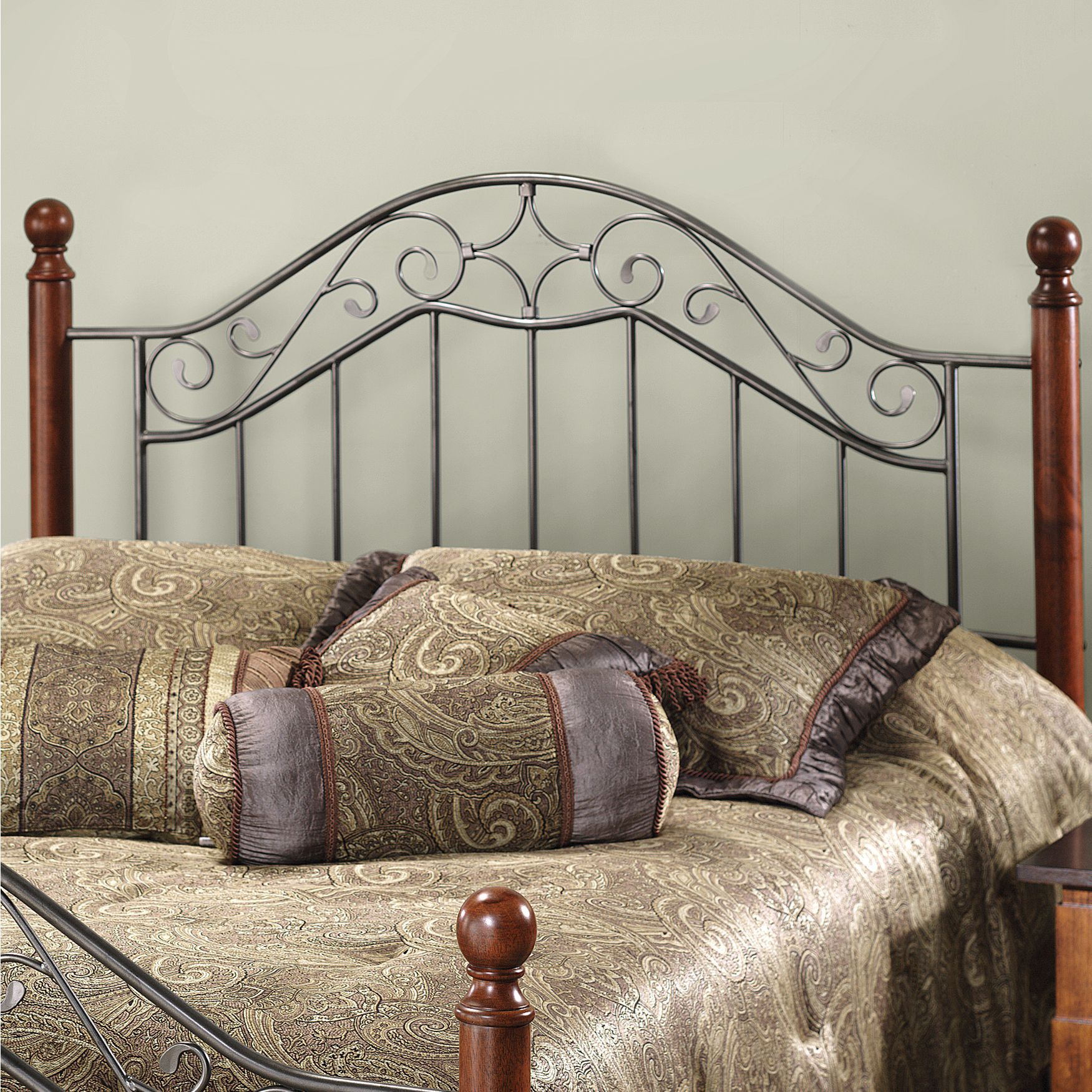 "King Headboard with Headboard Frame 71 Full/Queen Headboard with Headboard Frame 71½""L x 77½"" W x 53½"" H, SILVER"