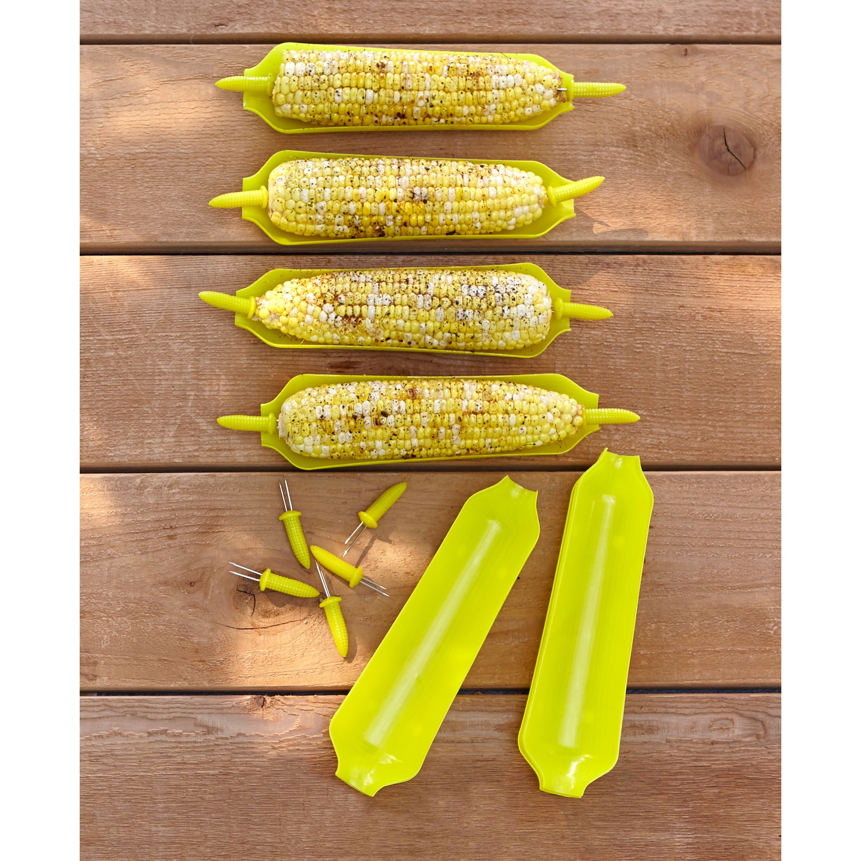 Corn Plates & Picks Set, YELLOW