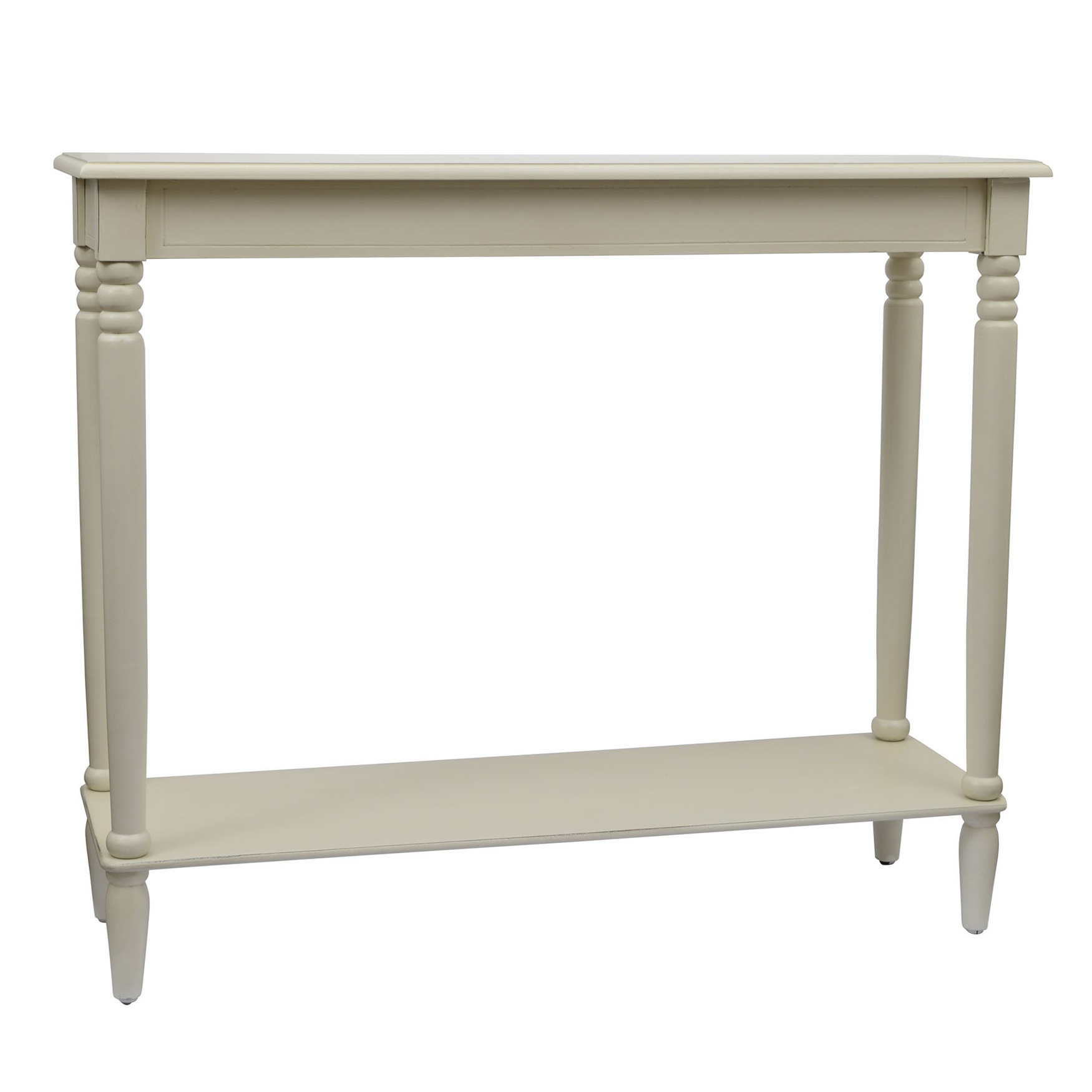 Simplify Large Console Table, ANTIQUE WHITE