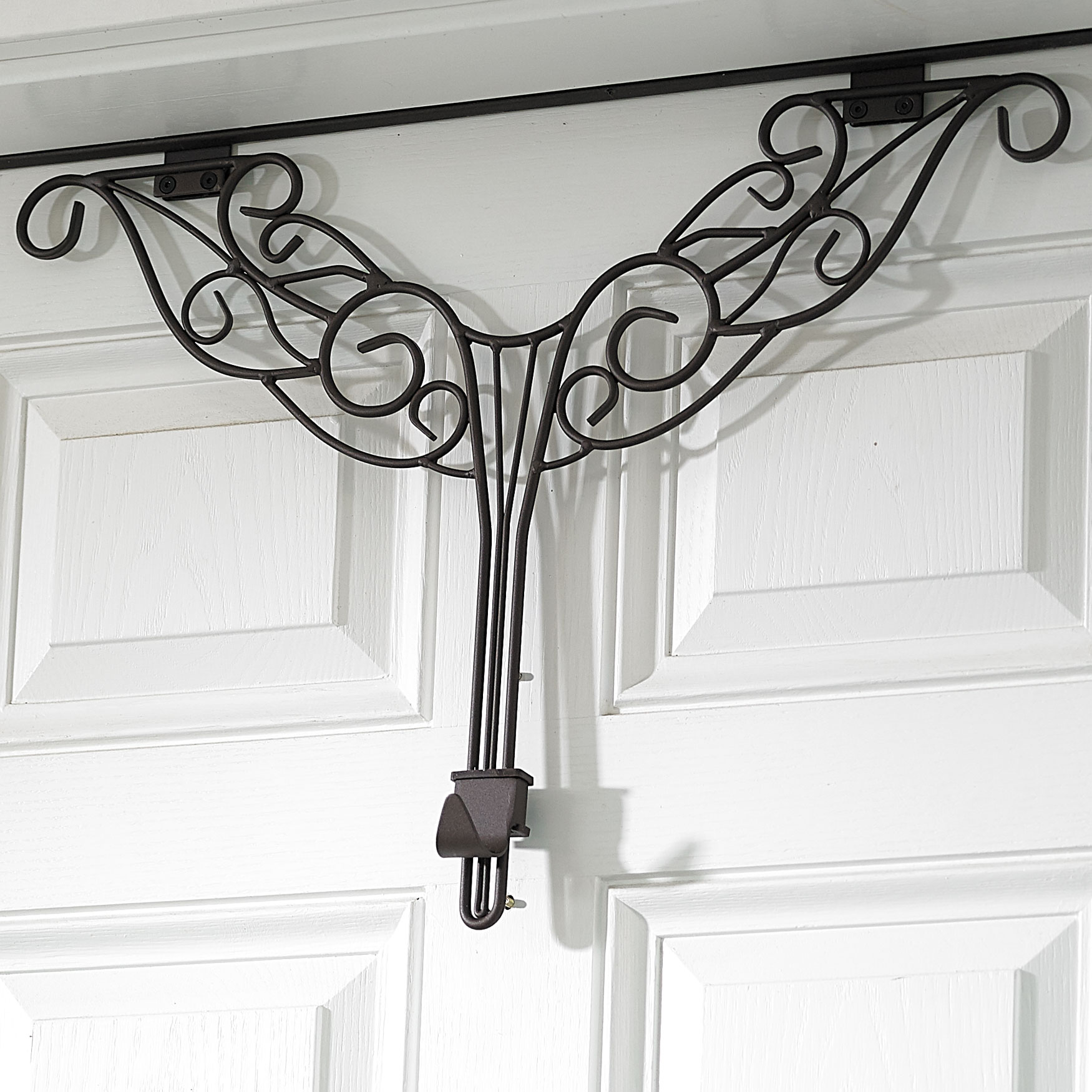 Adjustable Antler Wreath Hanger, BROWN