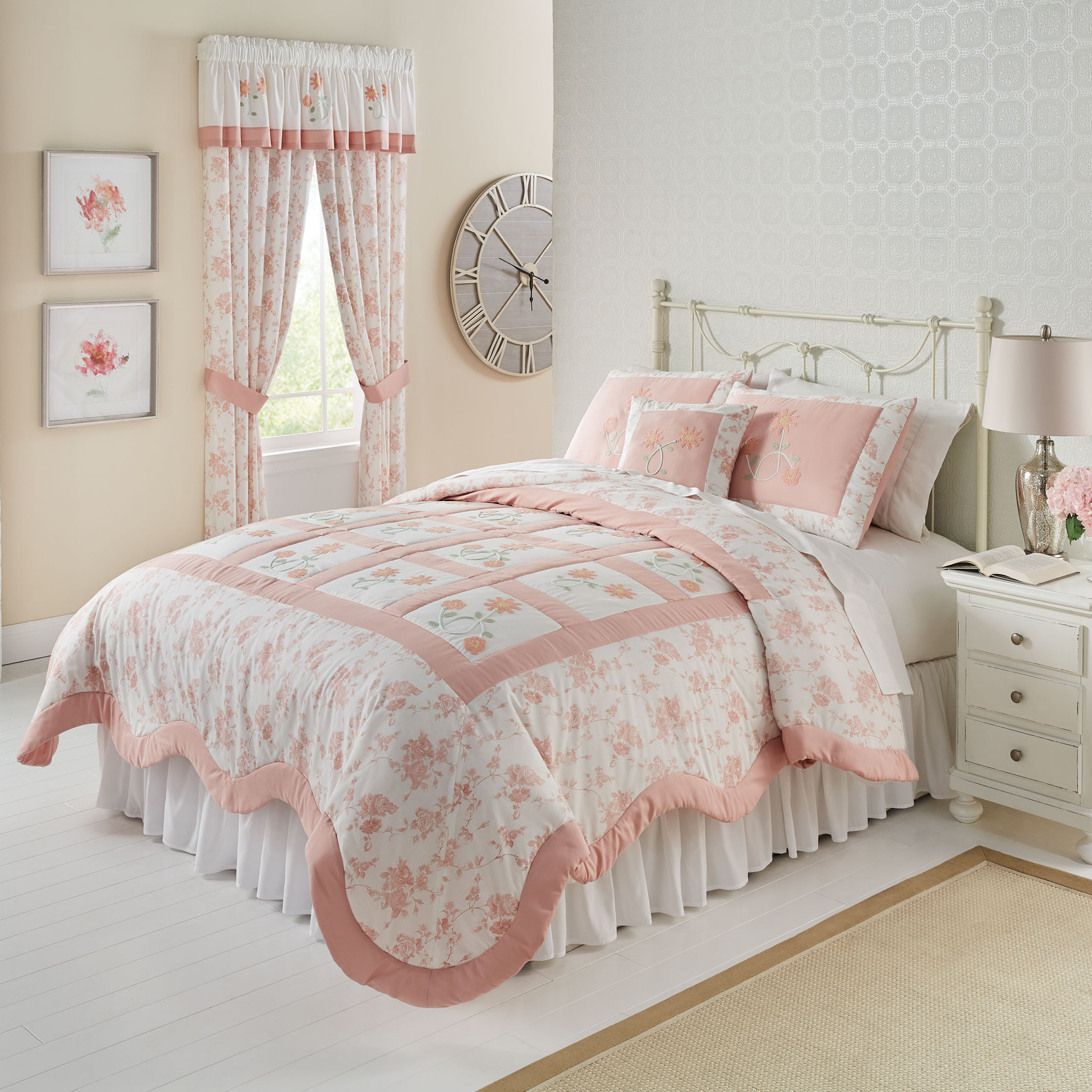Emma Embroidered Quilt,