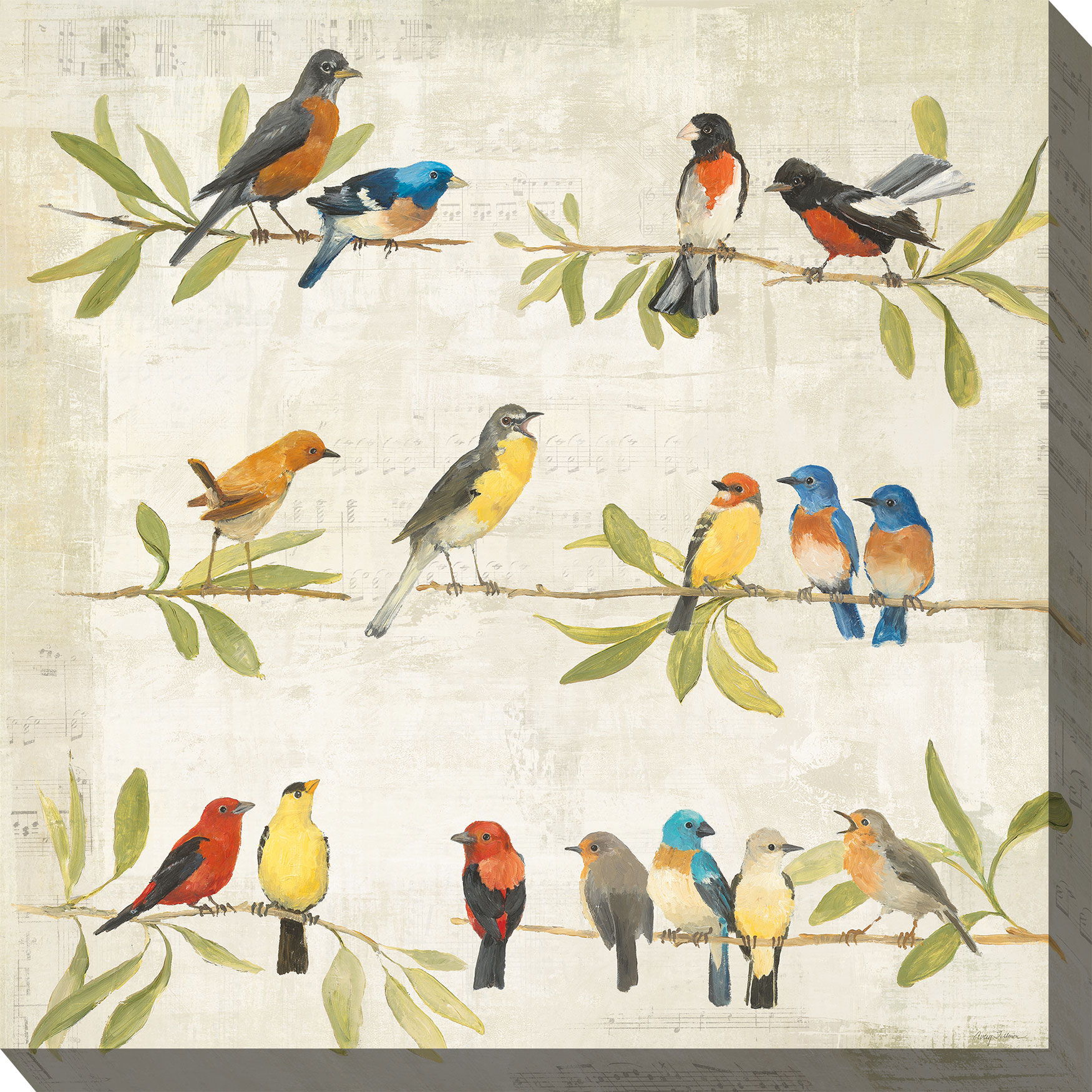 Birdsong Wall Art, MULTI