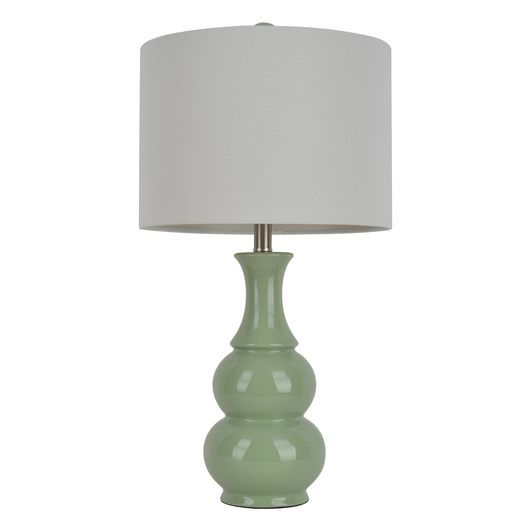 "26½"" Green Ceramic Table Lamp, GREEN"