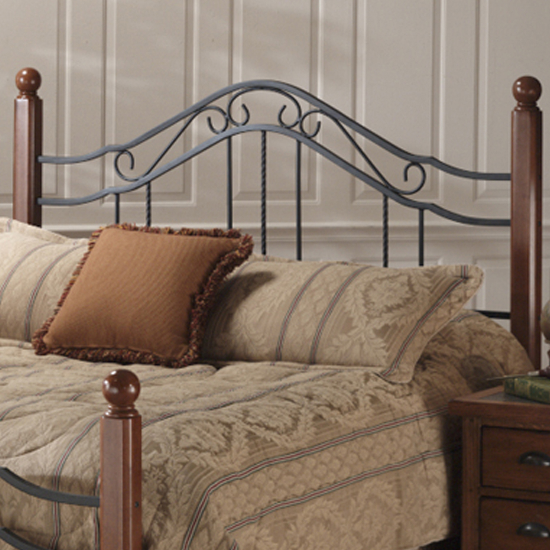 "Twin Headboard with Headboard Frame, 63½""Lx40¼""Wx50½""H, BLACK"
