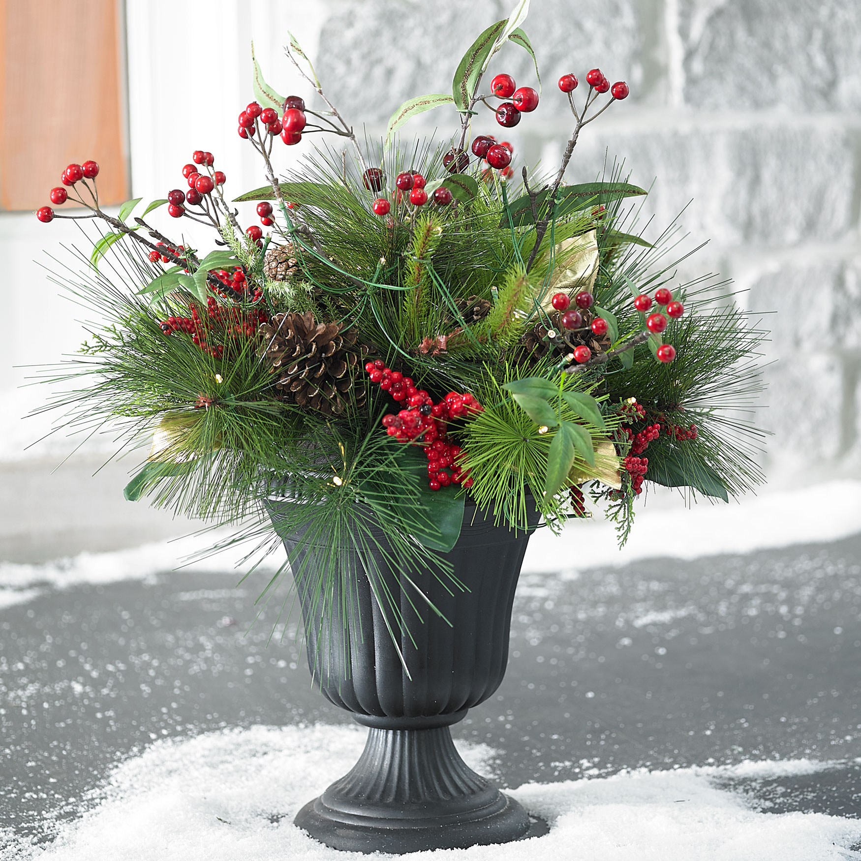 Winter Berry Urn Arrangement, MULTI