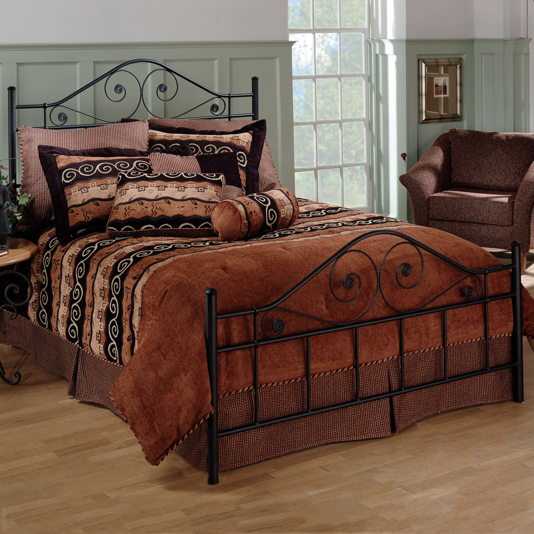 Queen Bed with Bed Frame, 83½'Lx61½'Wx51'H, BLACK