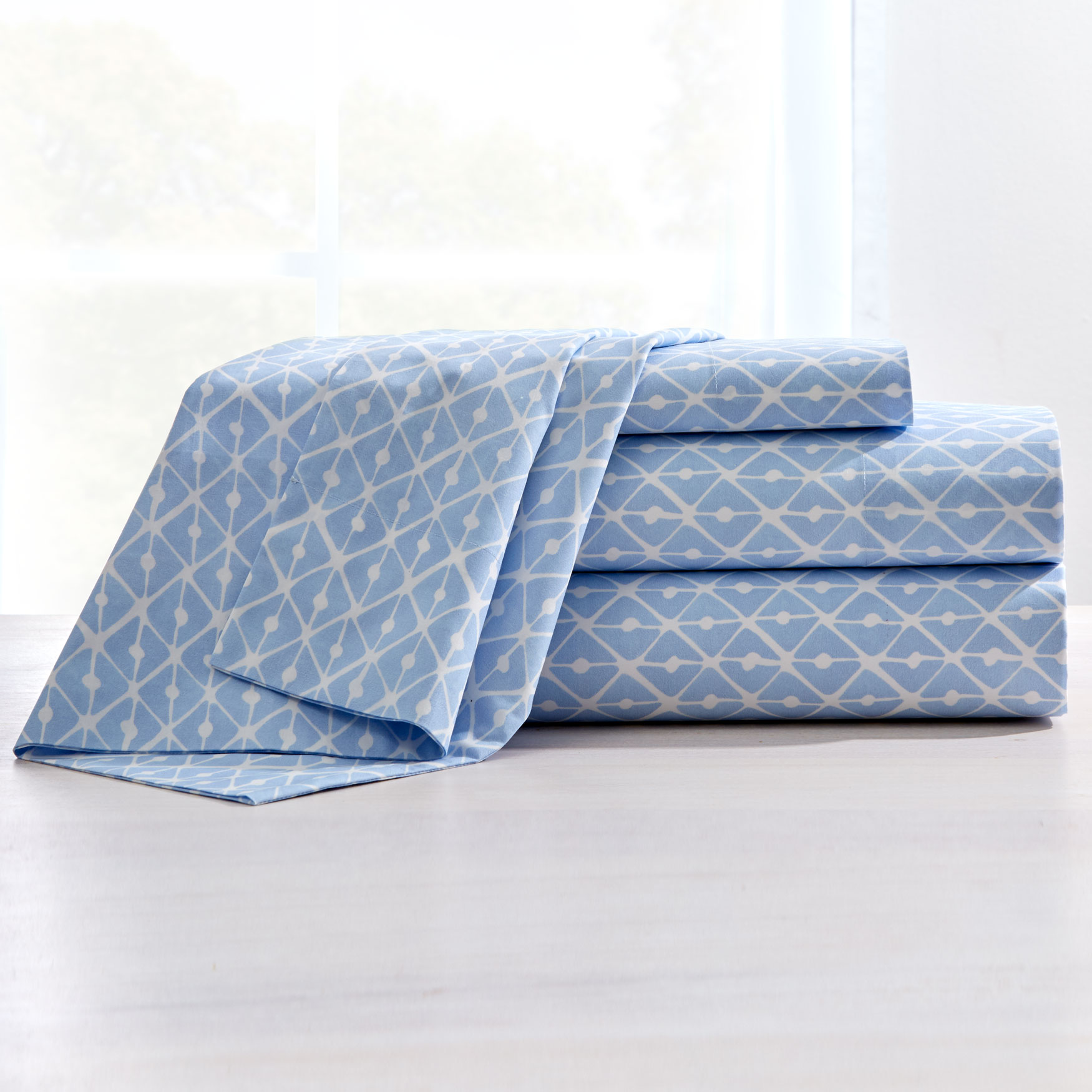 200-TC Percale Rhombus Sheet Set,