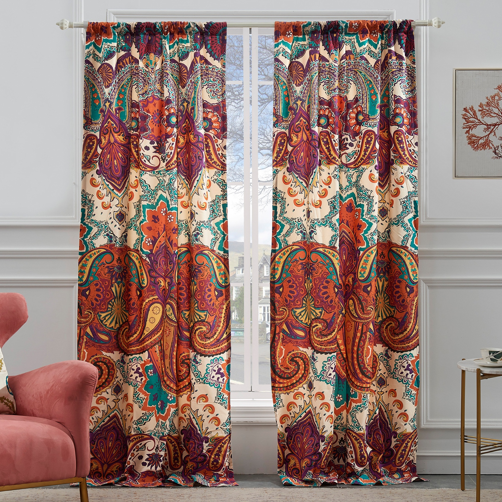 Nirvana Spice Curtain Panel Pair by Greenland Home Fashions, SPICE