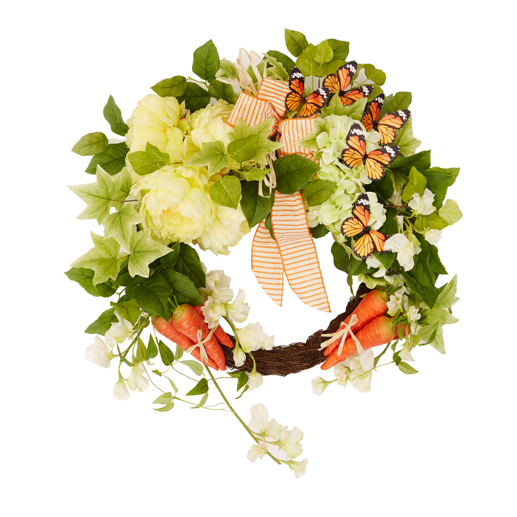 Carrot Patch Wreath, MULTI
