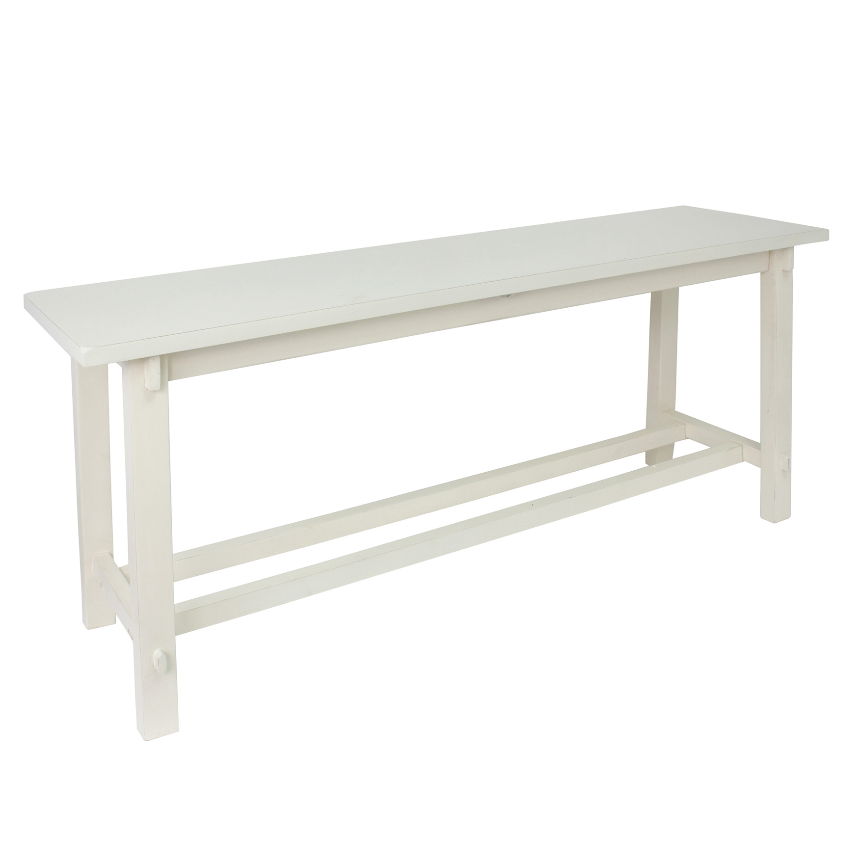 White Kyoto Bench, ANTIQUE WHITE