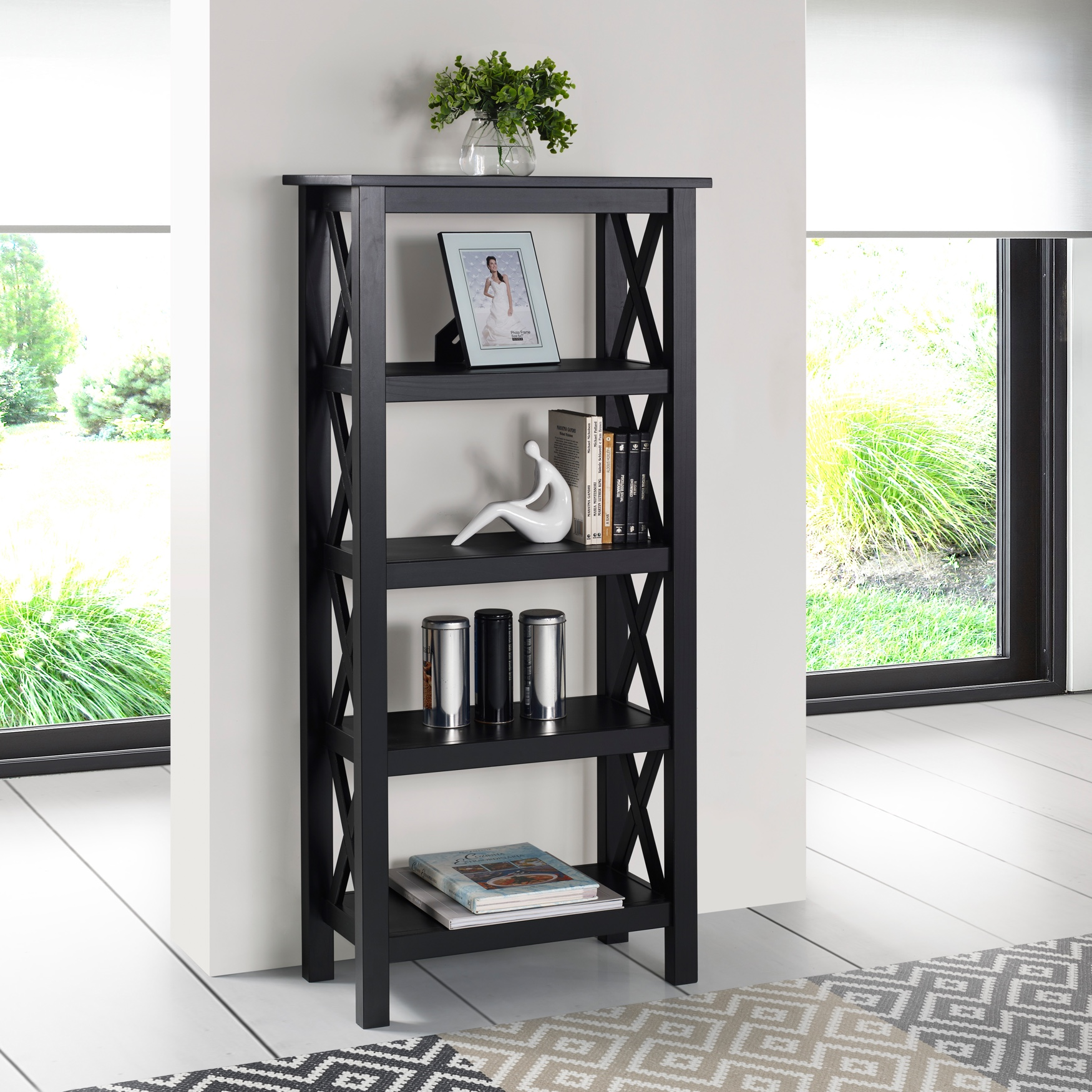 Davis Bookcase, BLACK