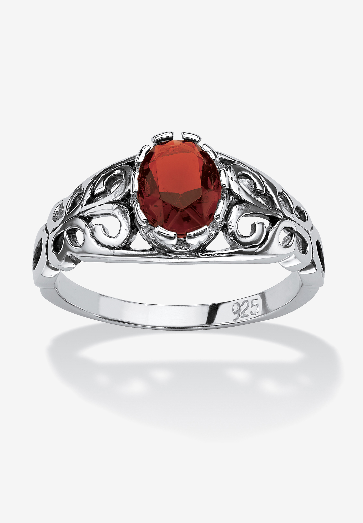 Sterling Silver Simulated Birthstone Ring,