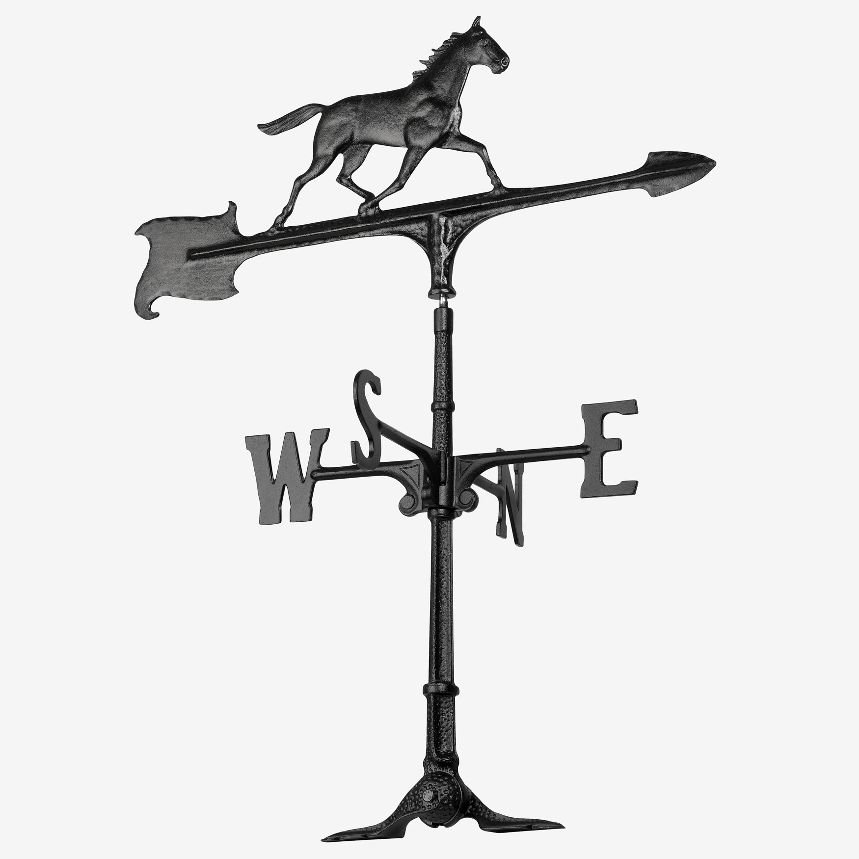 "30"" Horse Accent Weathervane, BLACK"