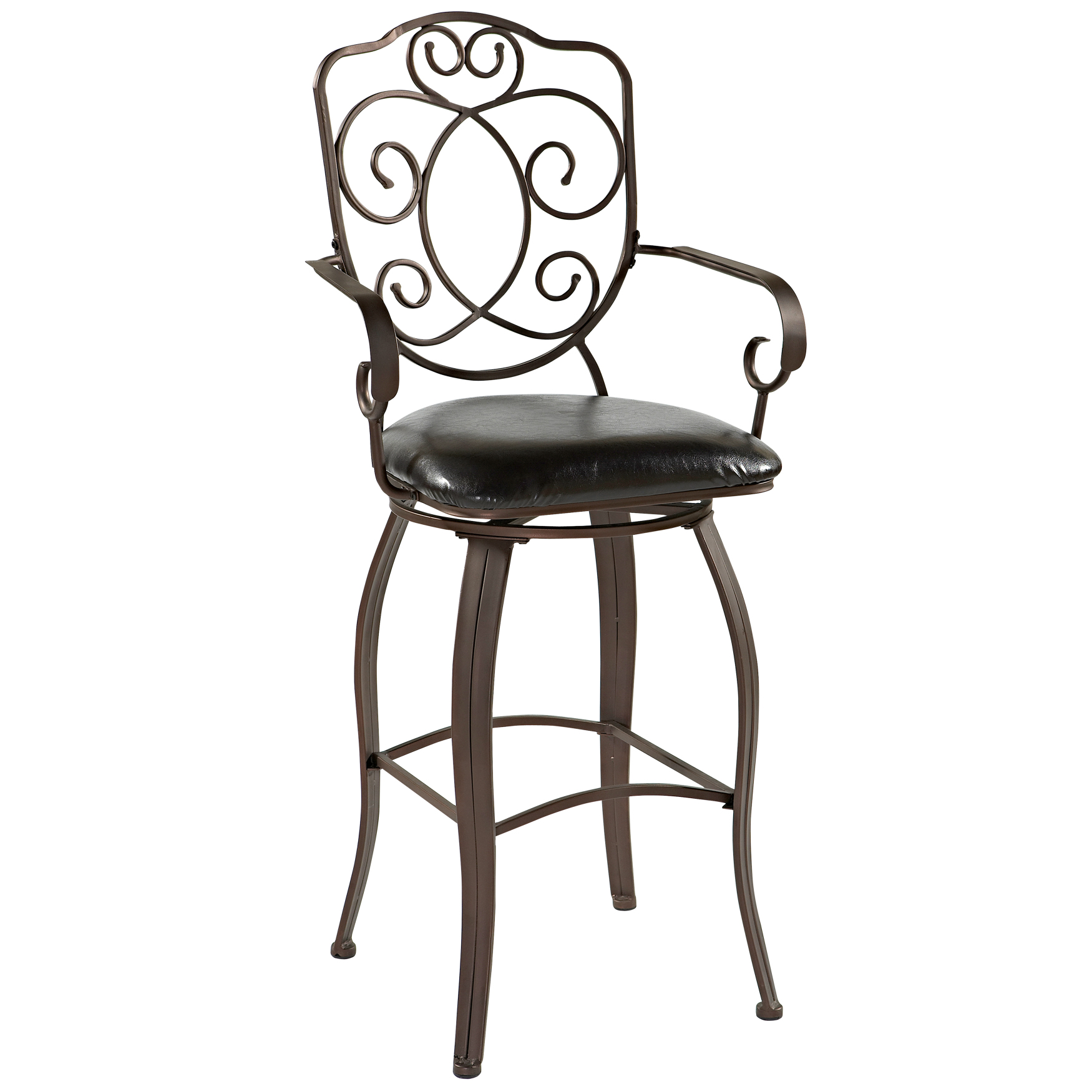 Crested Back Bar Stool 30h Plus Size Bar Stools Brylane Home
