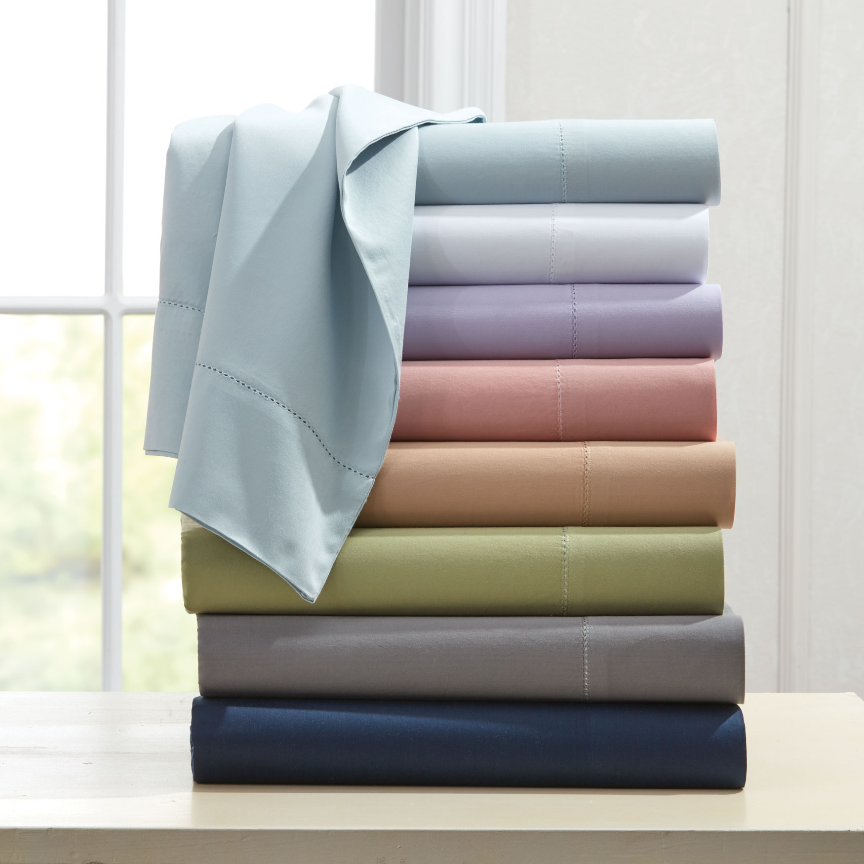 400-TC Cotton Hemstitched Sheet Set,