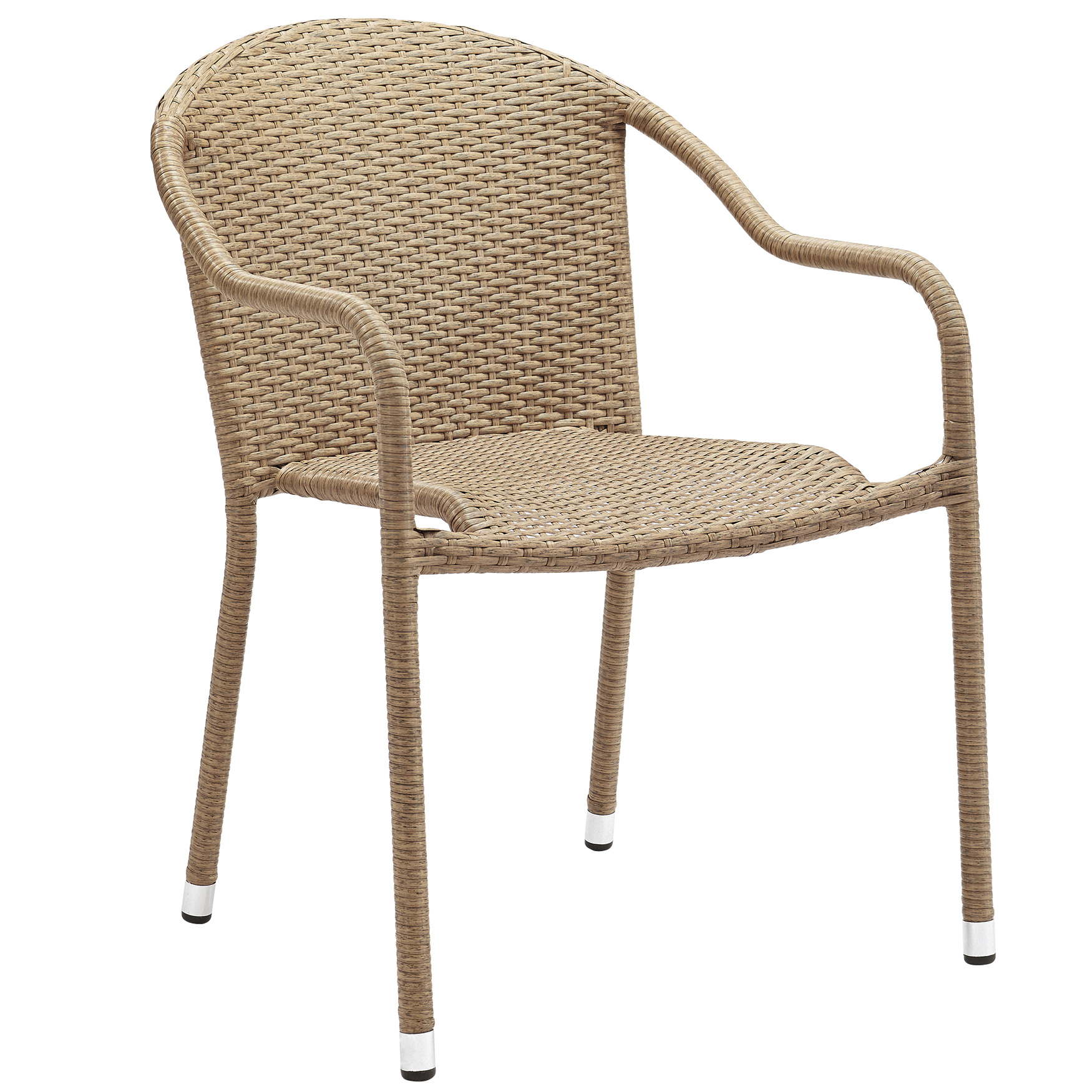 Palm Harbor Outdoor Wicker Stackable Chairs - Set of 4,