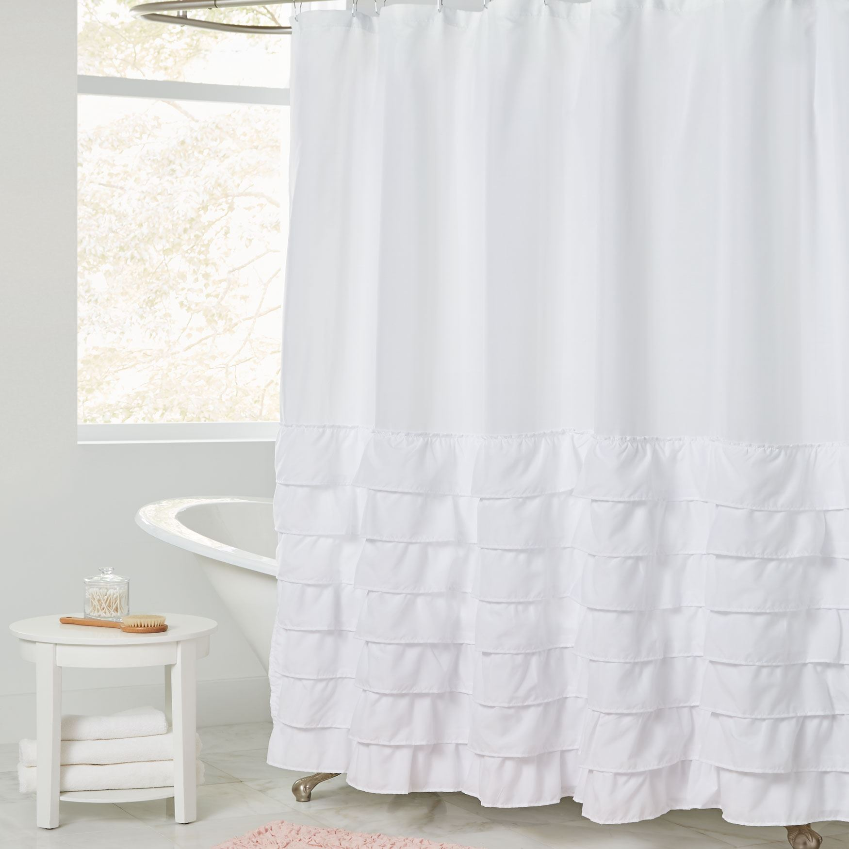 Melanie Ruffled Shower Curtain