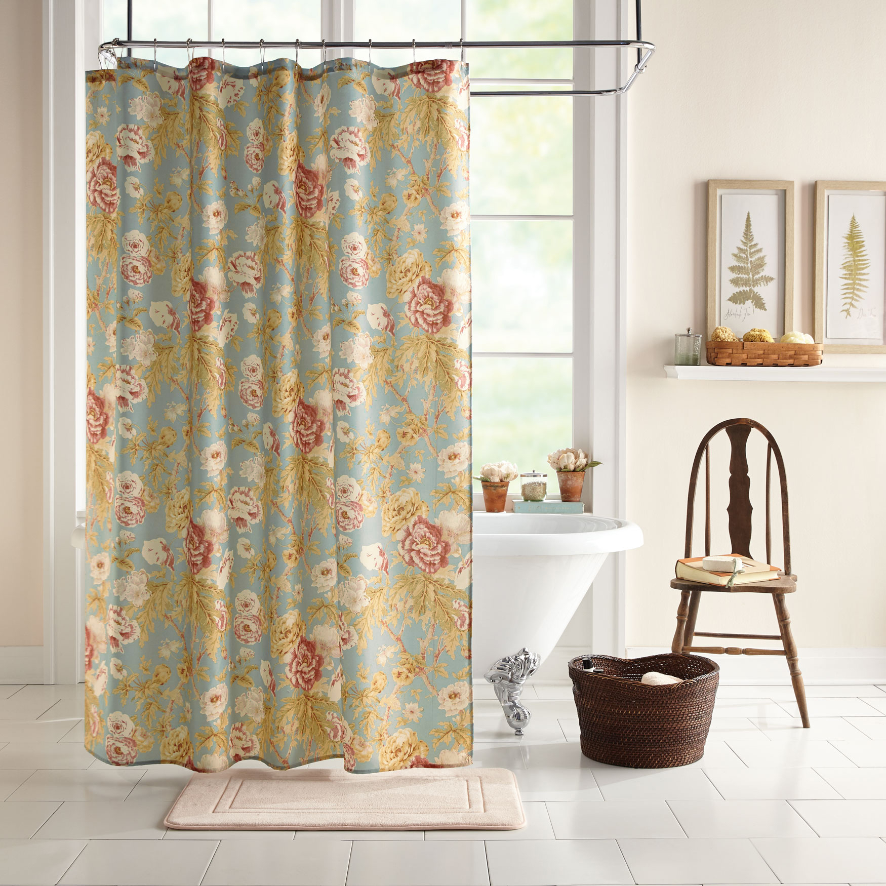 15-Pc. Victoria Shower Curtain Set, MULTI