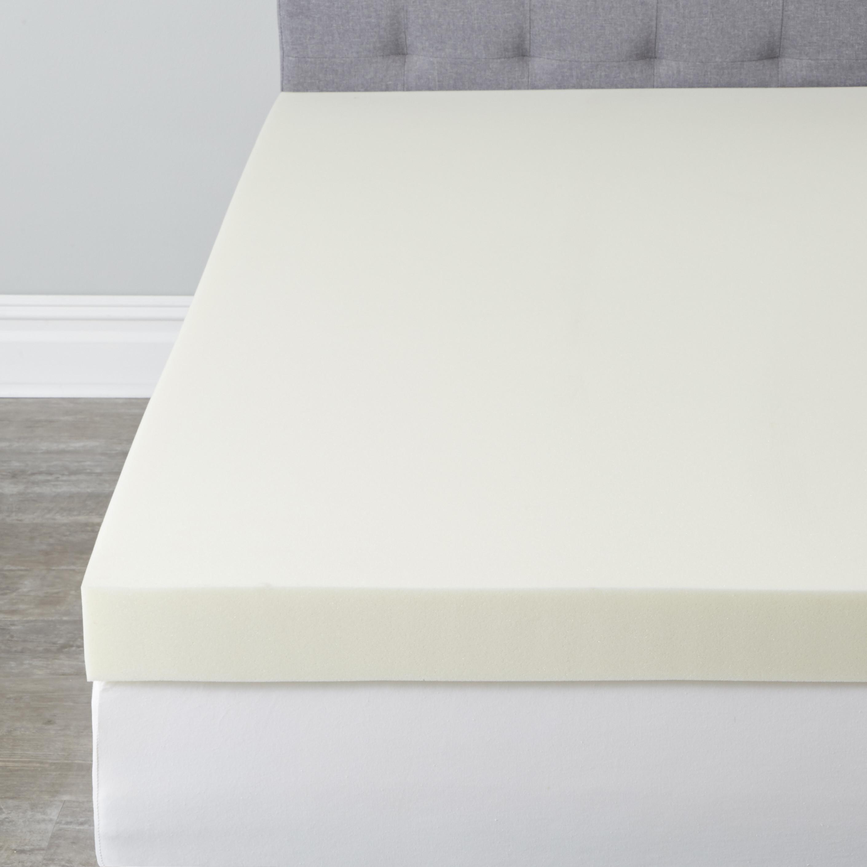 4 Thick Visco Elastic Memory Foam Mattress Topper Plus Size
