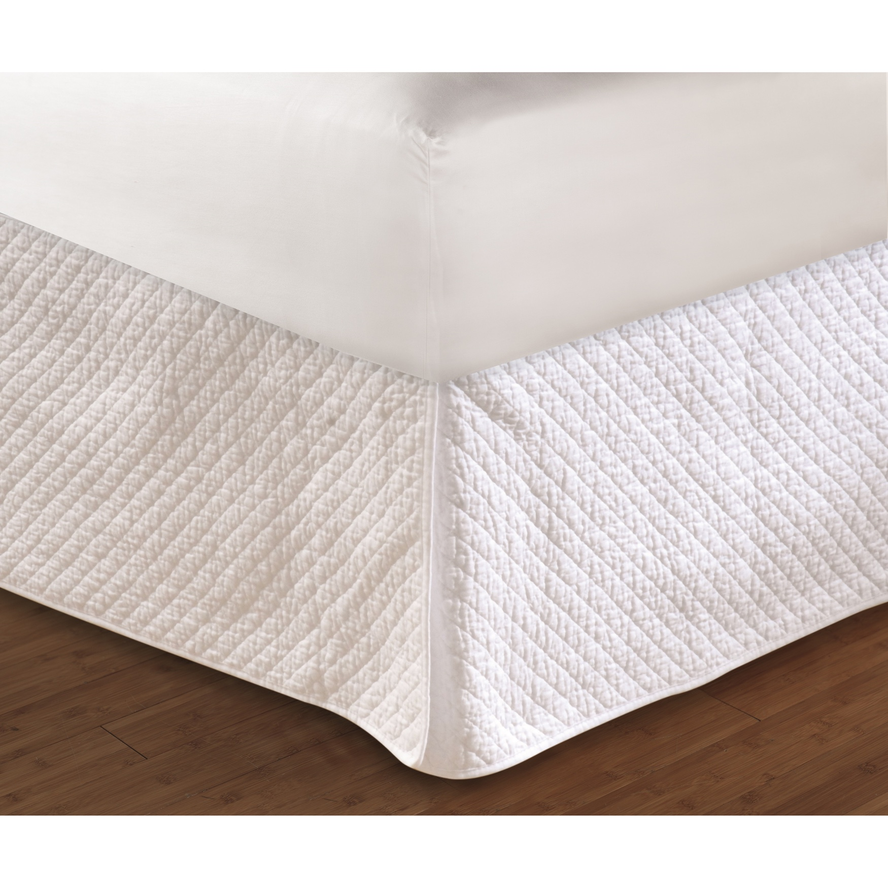 "Greenland Home Fashions Diamond Quilted Bed Skirt 18"","