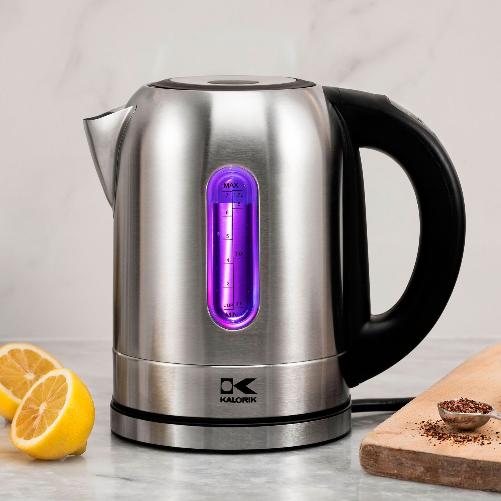 Kalorik Stainless Steel Digital Kettle, STAINLESS