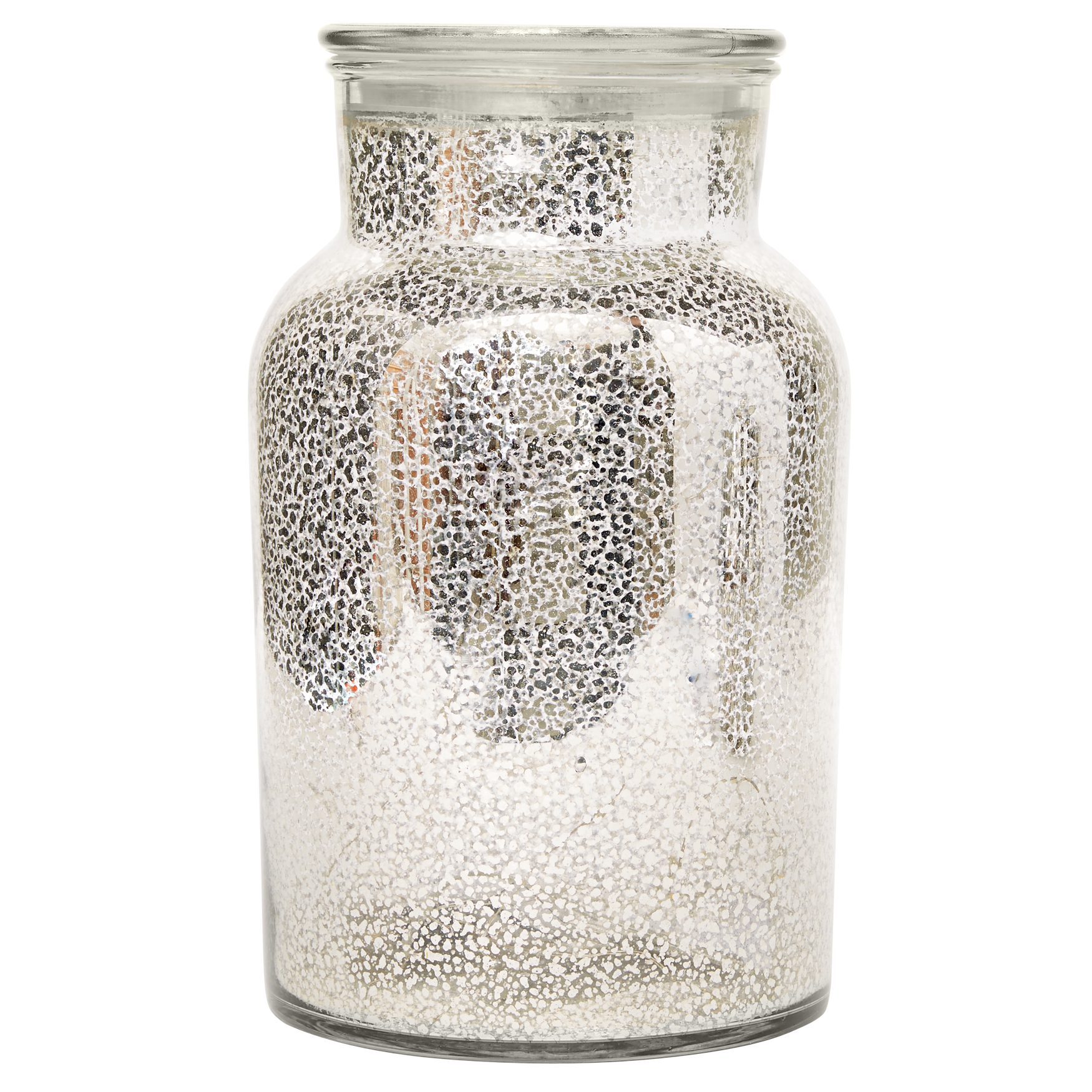 Tillian Jar with Rice Lights, SILVER