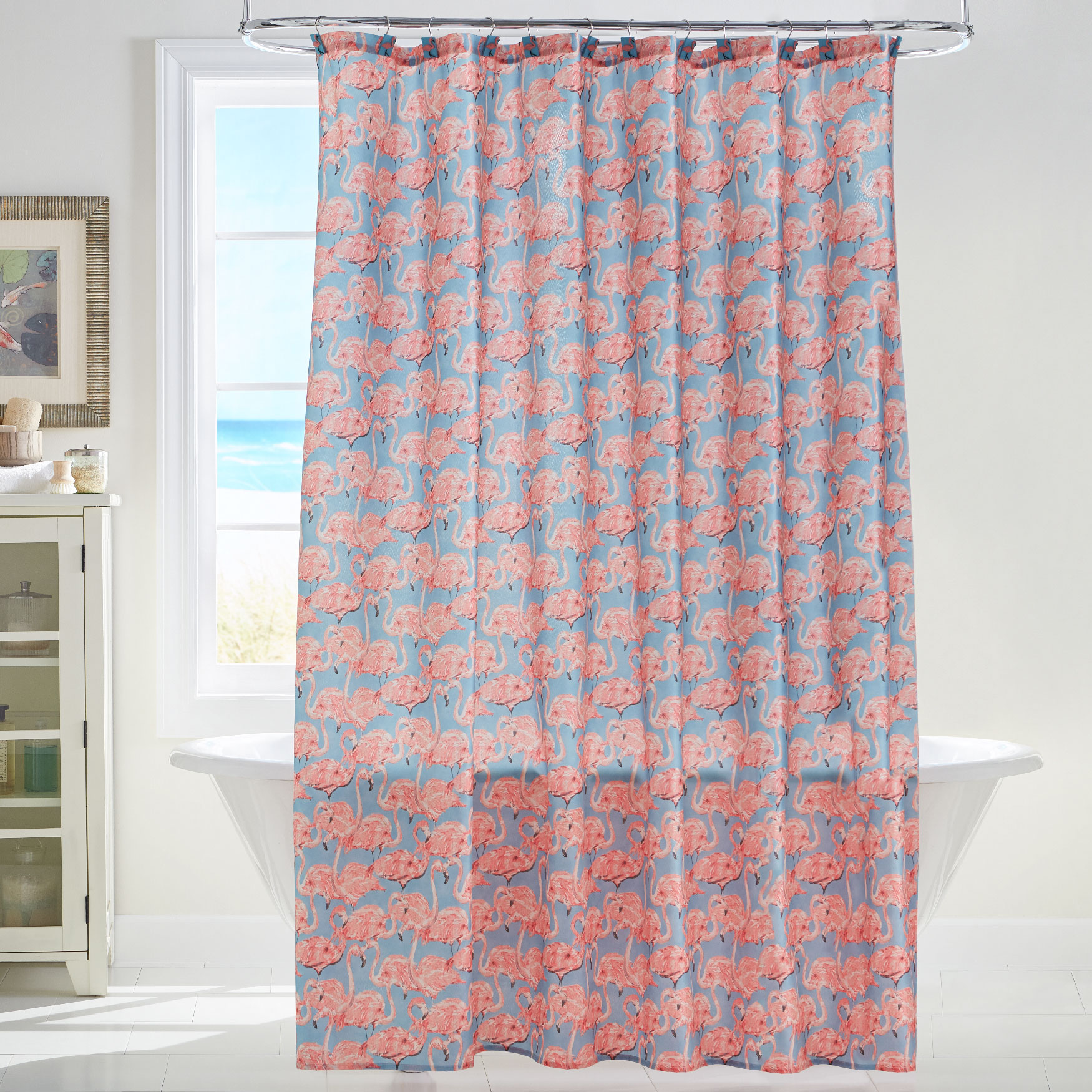 Flamingo 15-Pc. Shower Curtain Set, MULTI